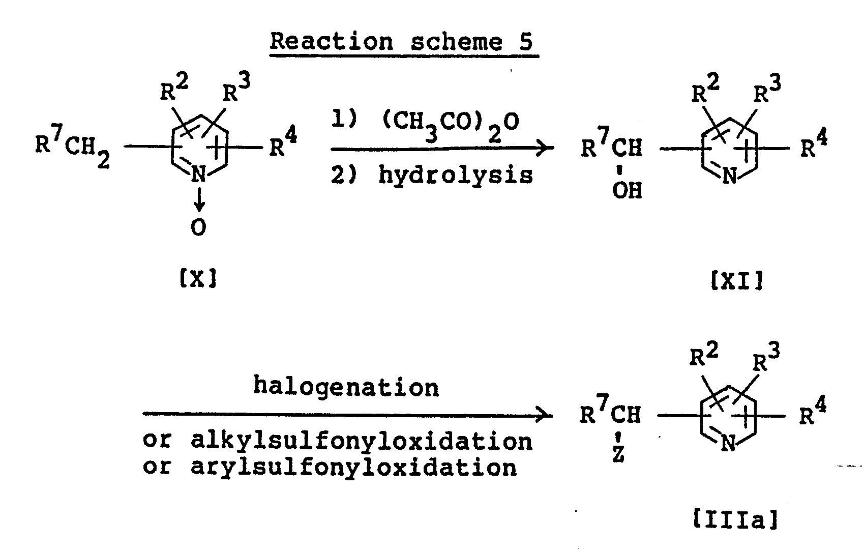 reaction of 2 alkyl pyridine n oxide derivatives Nitro, lower alkyl or lower alkylthio pyridine 1-oxide derivatives ca -1-hydroxy-imidazolidine and 2-chloromethyl-pyridine n-oxide there is.