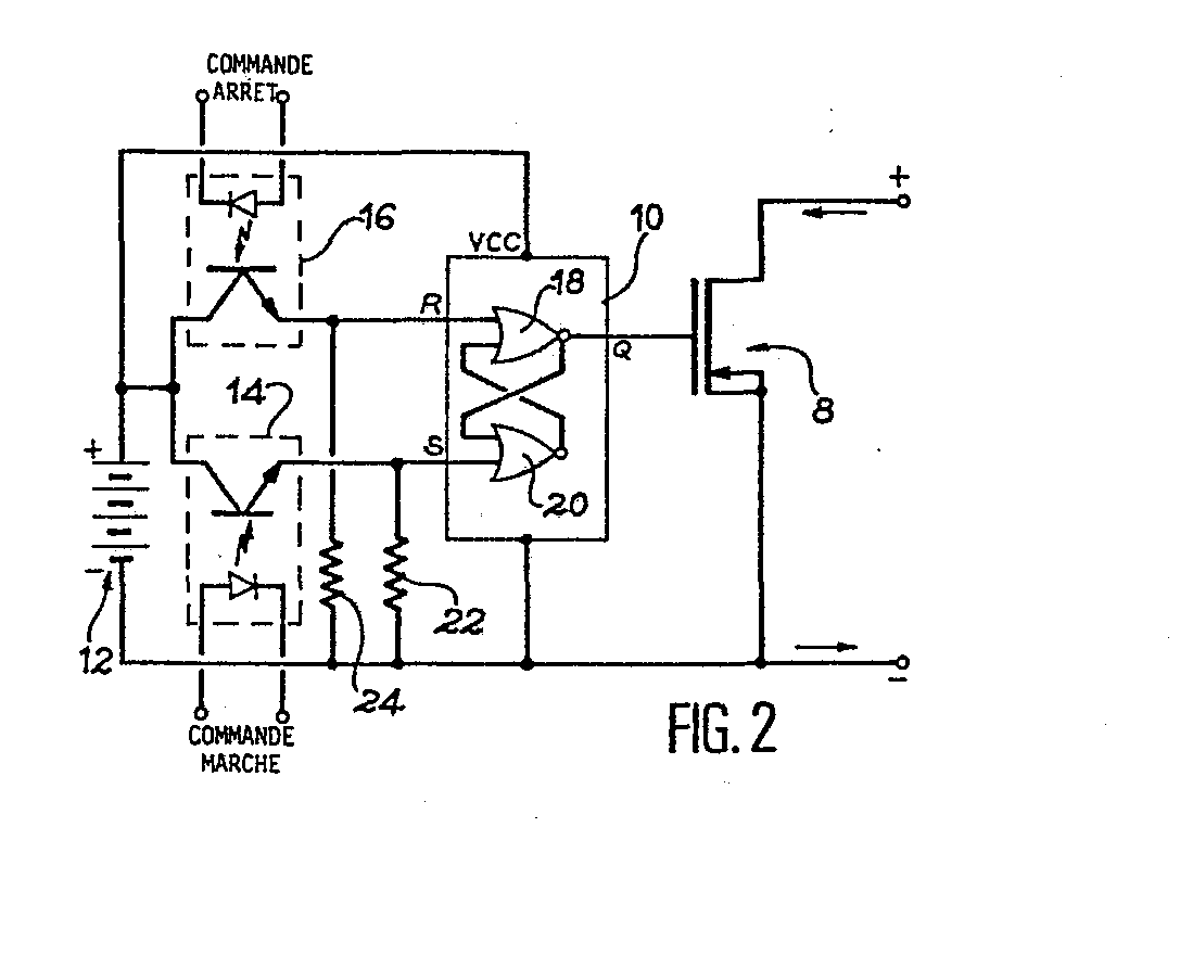 Patent ep0265315a1 integrated bistable electronic switch for Bascule transistor