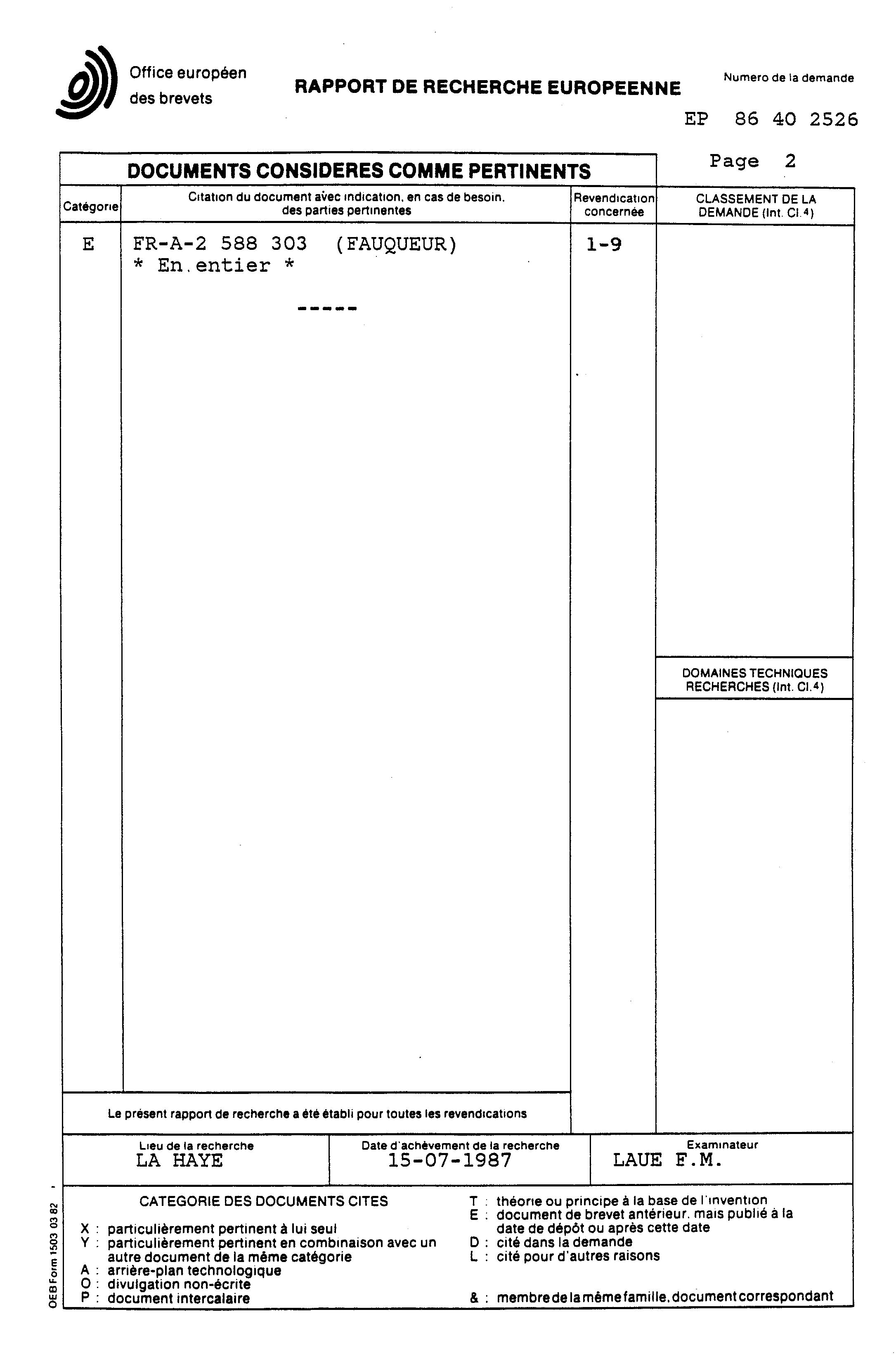 Patent ep0270715a1 proc d d 39 ass chement de parois murales et applicate - Parois murales modulables ...