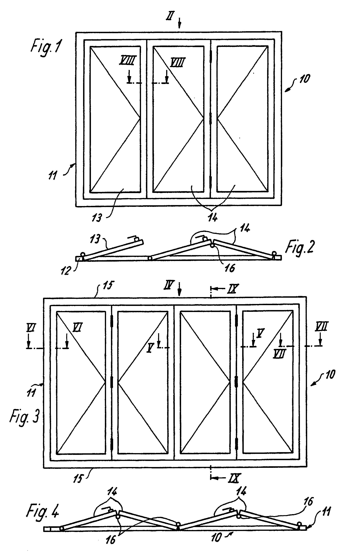 patente ep0277531b1 faltschiebet r oder fenster. Black Bedroom Furniture Sets. Home Design Ideas
