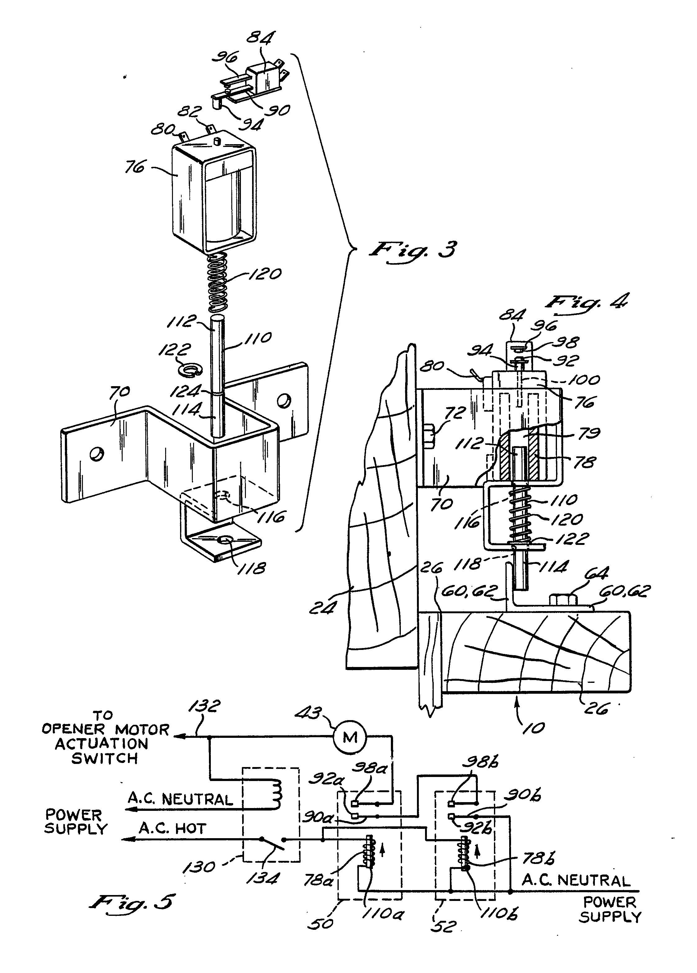 patent ep0281340a2 - electromagnetic garage door locking apparatus
