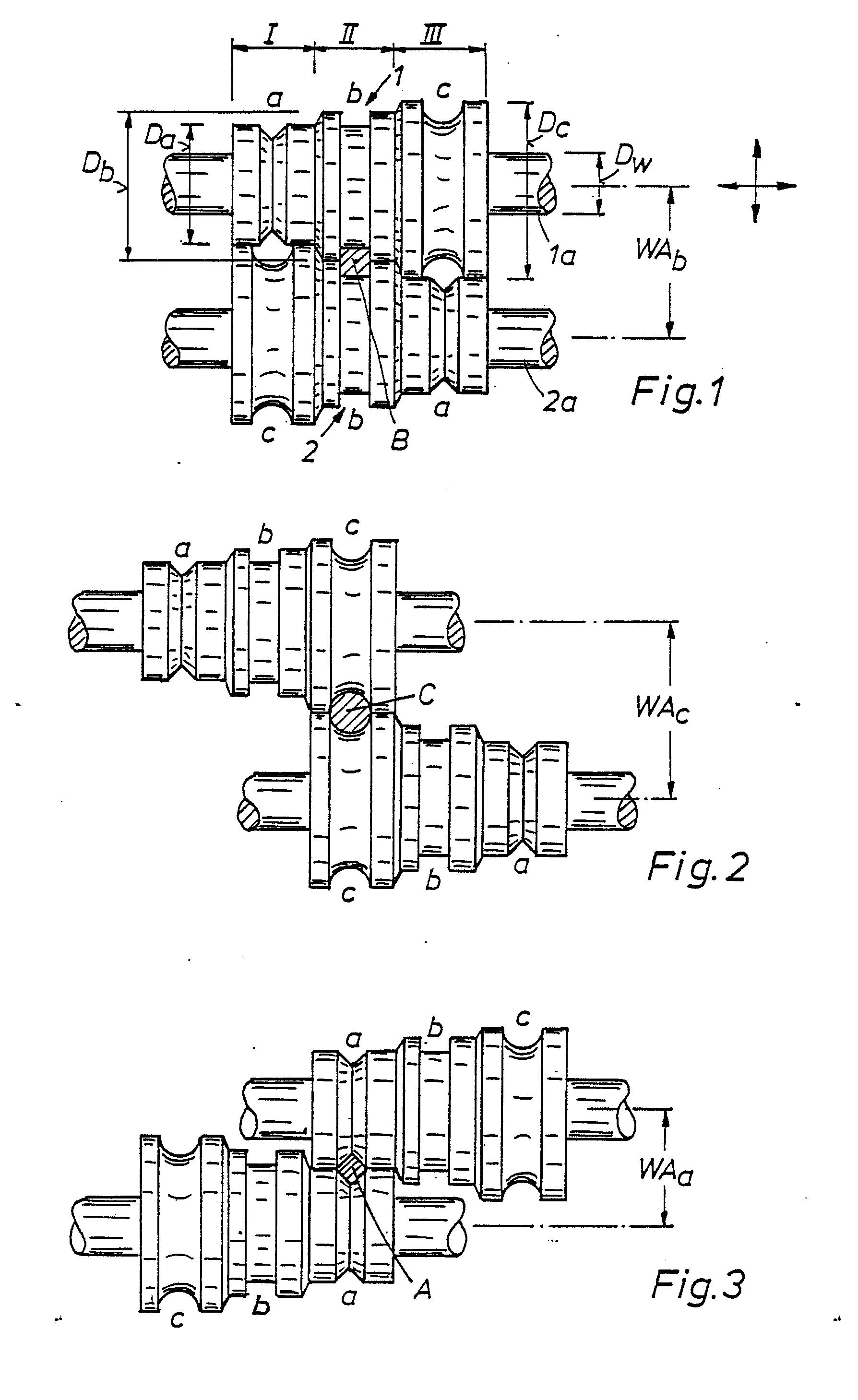 Patent EP0286875A2 - Kaliberwalzensatz zum Walzen von Stabstahl und ...