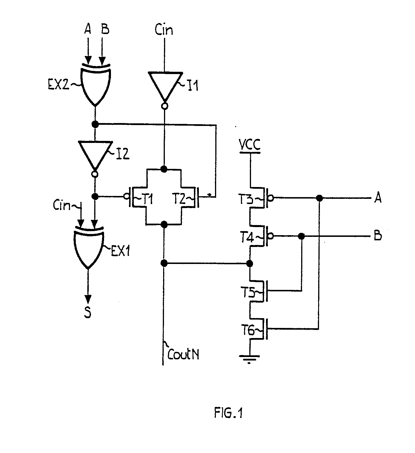 Patent Ep0291963a2 Fast C Mos Adder Google Patents 1 S Complement Circuit Diagram Drawing