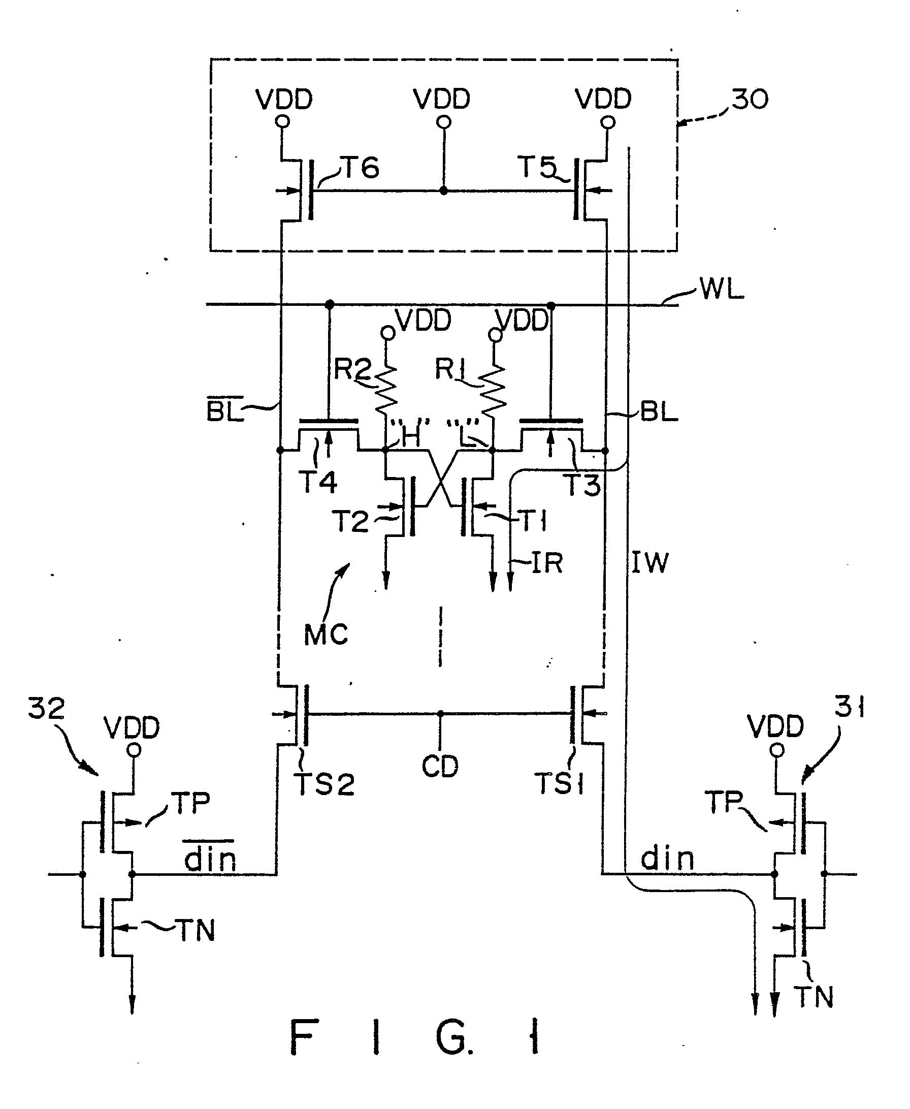 semiconductor sram device