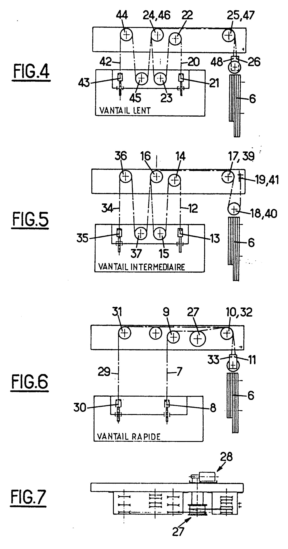 patent ep0307870b1 porte t lescopique verticale pour. Black Bedroom Furniture Sets. Home Design Ideas