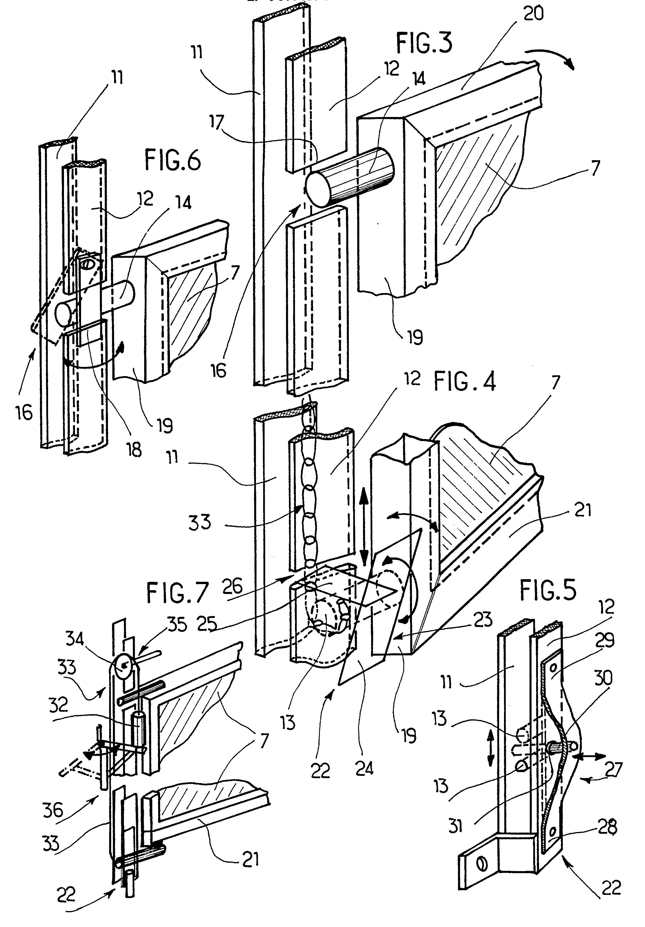 patent ep0314590a1 porte guillotine perfectionn e pour. Black Bedroom Furniture Sets. Home Design Ideas