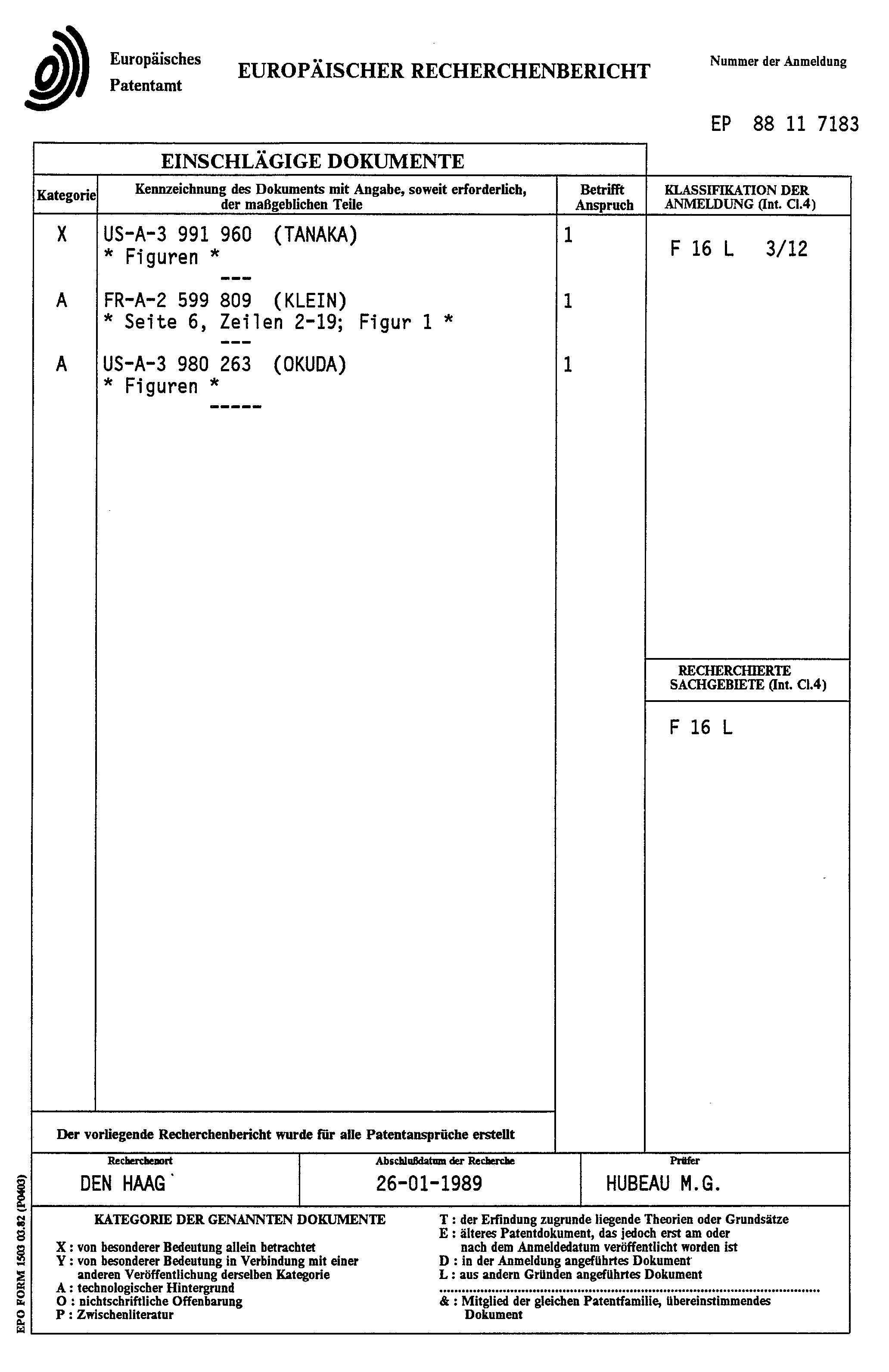 Patent ep0314965a1 halteklammer zur befestigung von for Faurecia interieur industrie