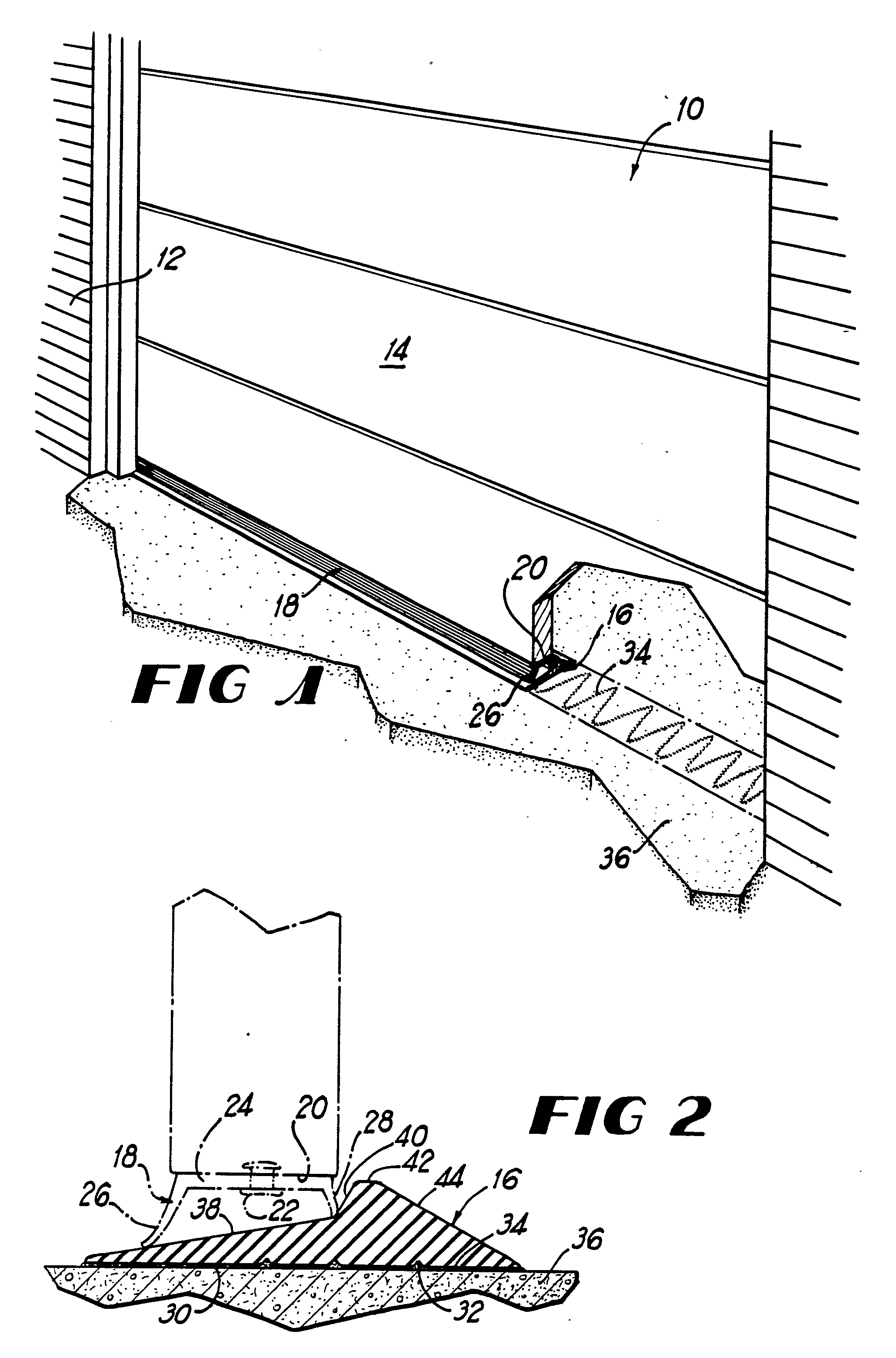 patent ep0318130a1 threshold assembly for garage doors google patent drawing