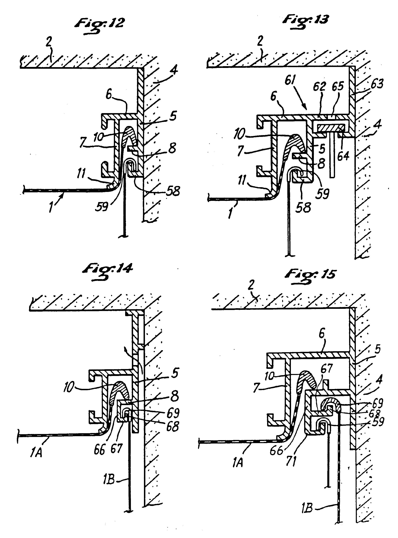 Patent ep0338925b1 faux plafond constitu par une nappe tendue accroch e le long de ses bords - Comment couper un angle a 45 degres ...