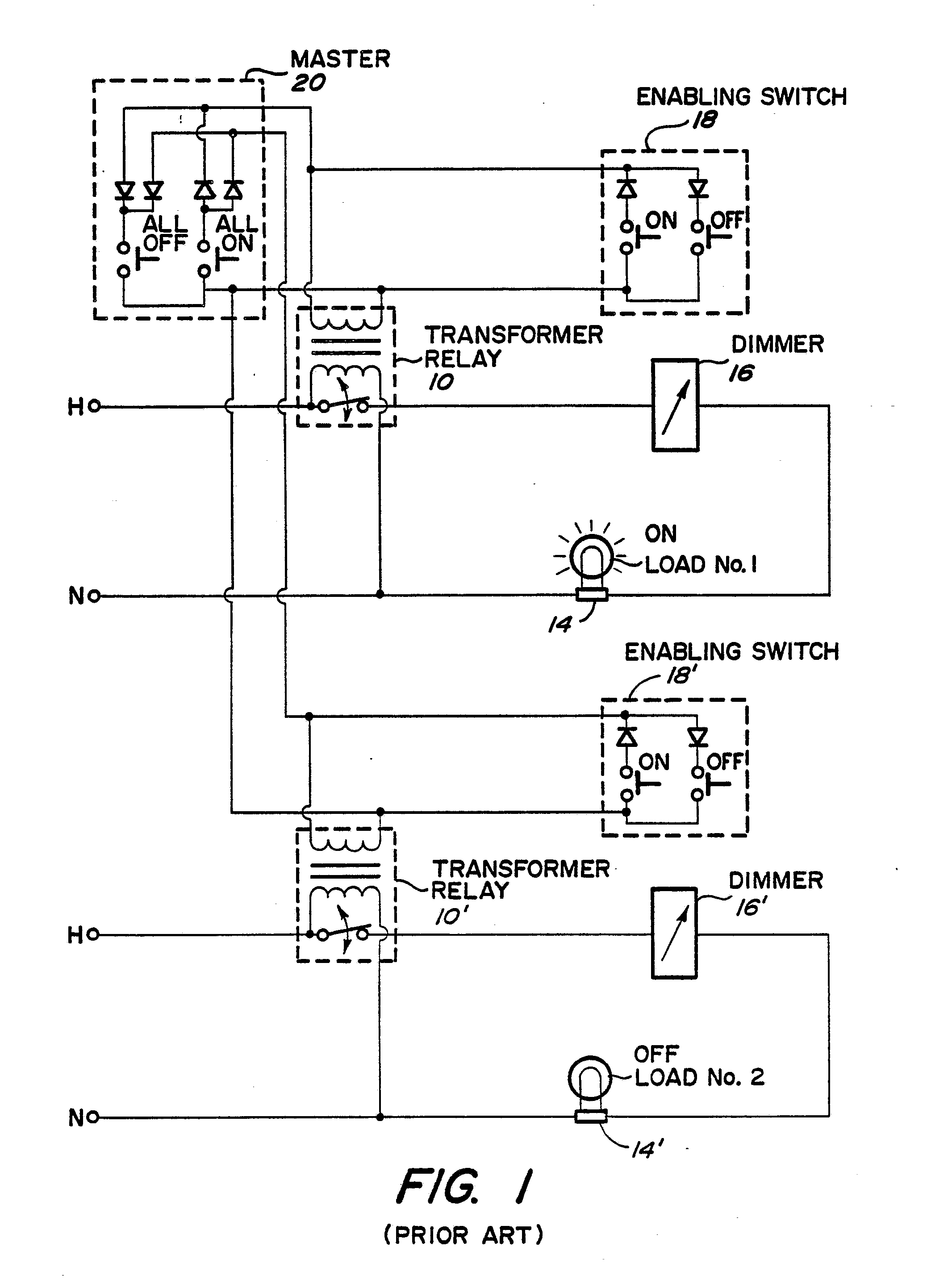imgf0001 patent ep0361734a1 master electrical load control google patents bticino wiring diagram at gsmportal.co