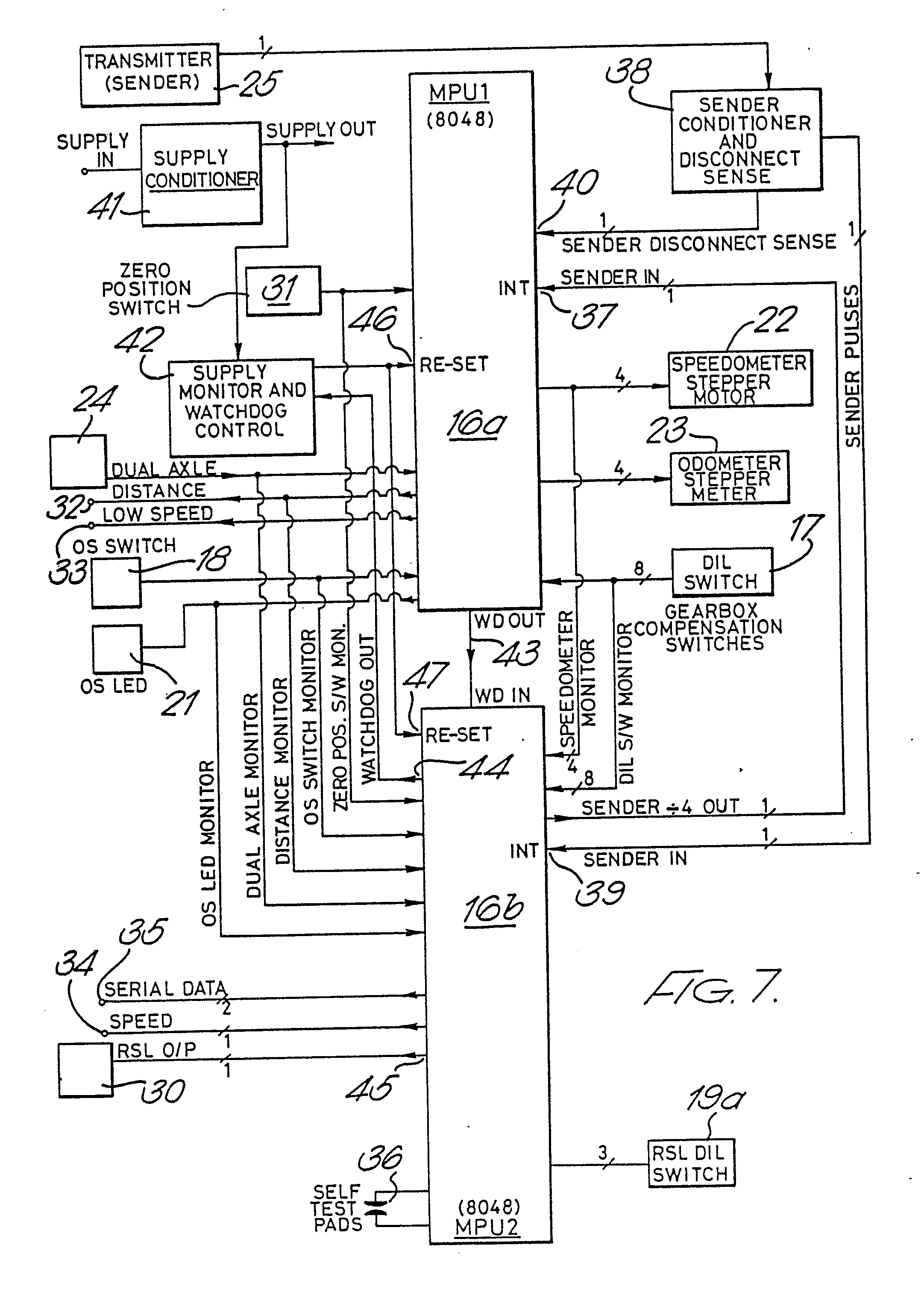 Patent EP0362969A2 Tachograph and vehicle speed control