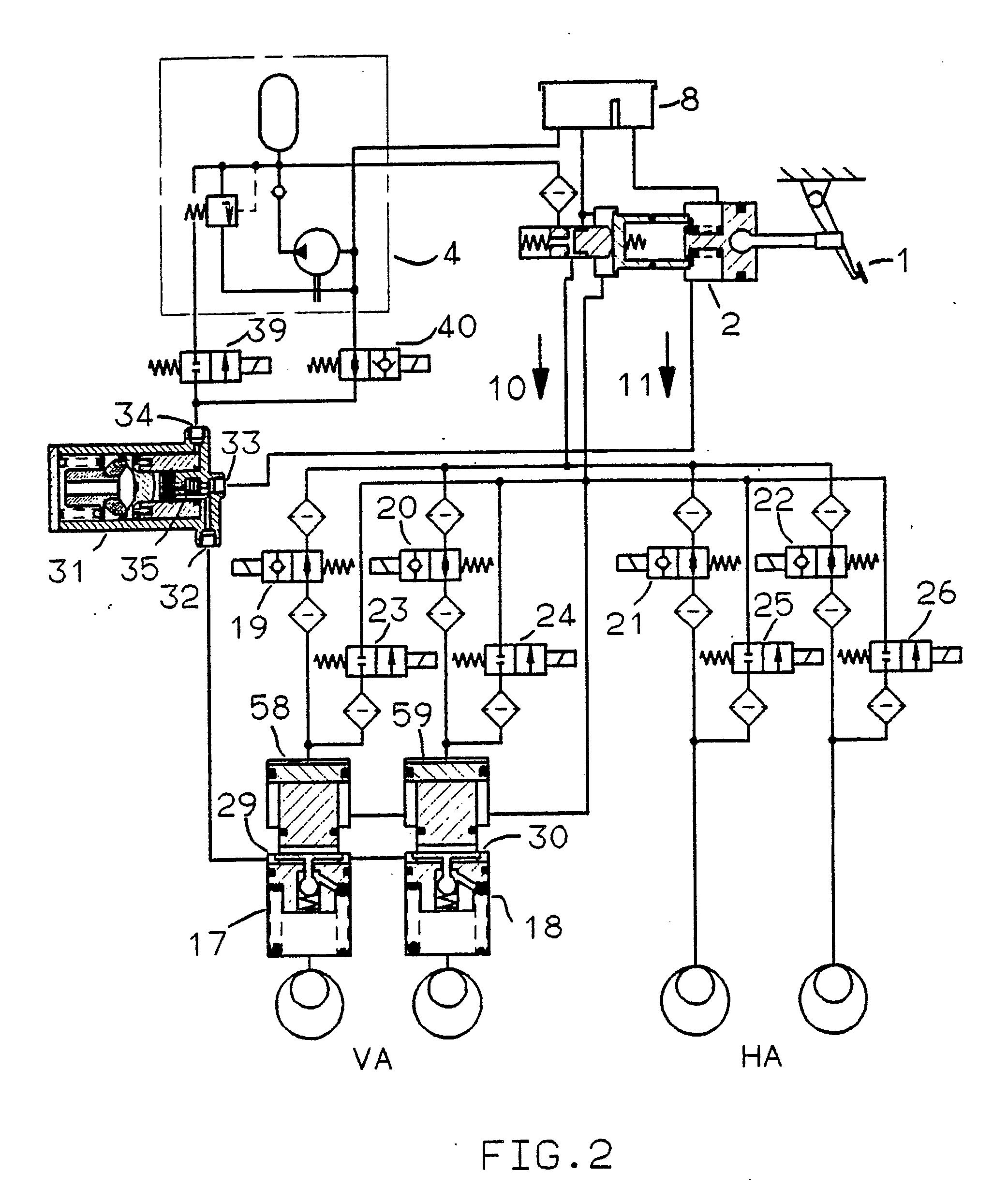 Patent EP0365769A1 - Hydraulische Zweikreis-Bremsanlage - Google Patents