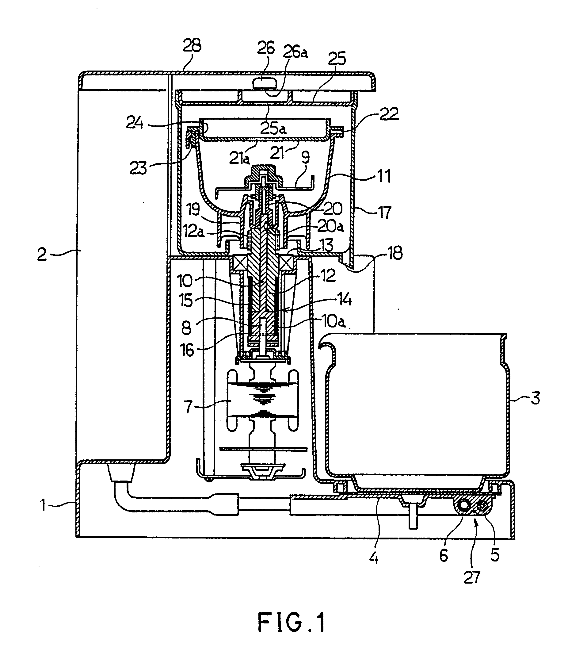Centrifugal Coffee Maker : Patent ep a centrifugal brewing type coffee maker