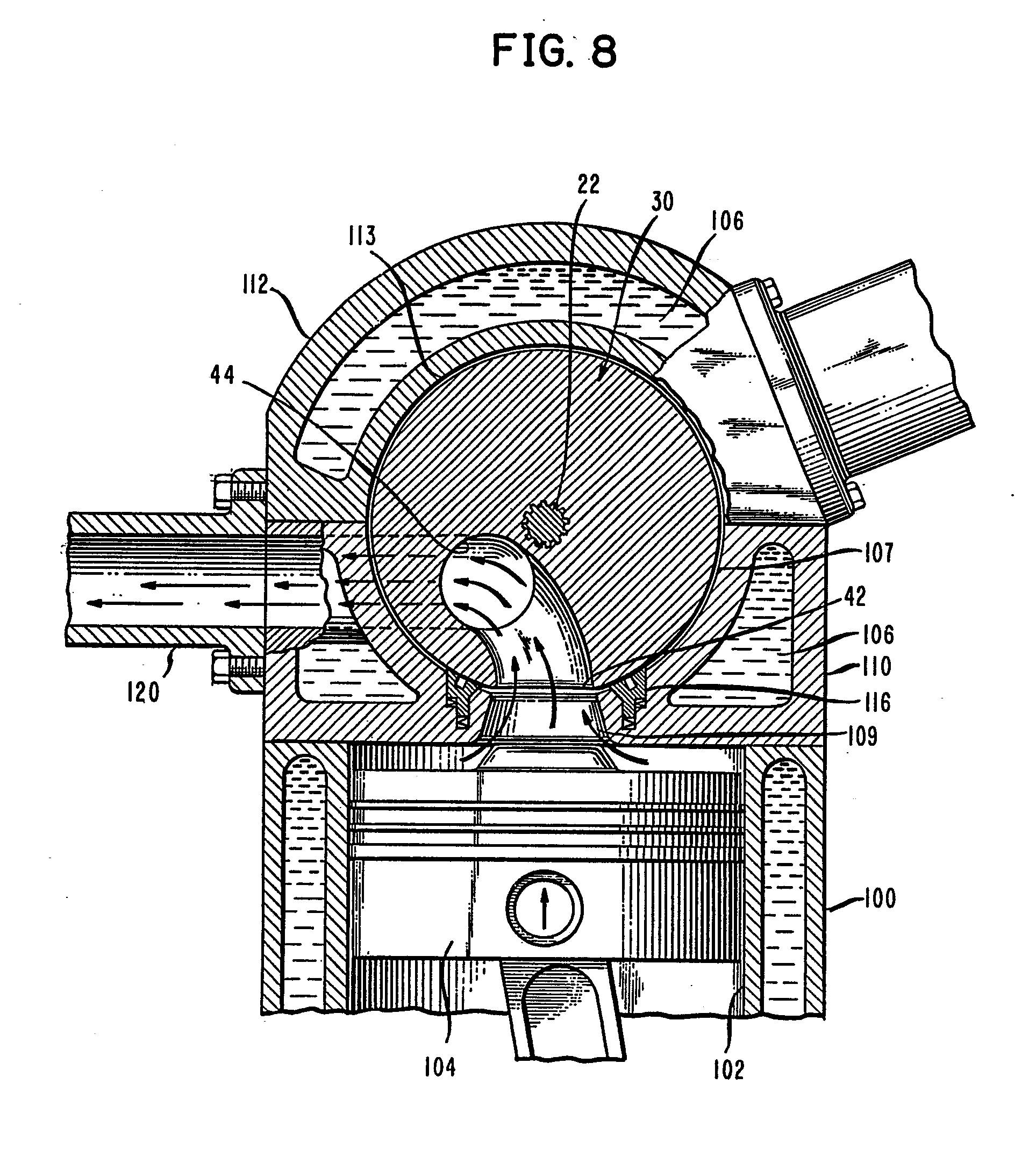patent ep0369099a1 spherical rotary valve assembly for an combustion engine