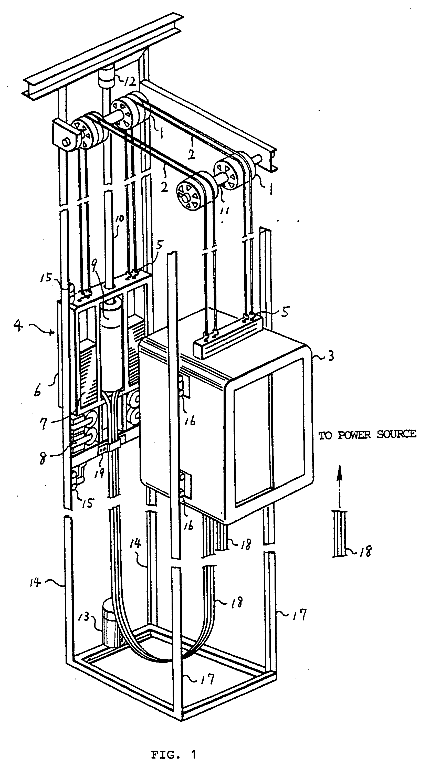 elevator shaft diagram