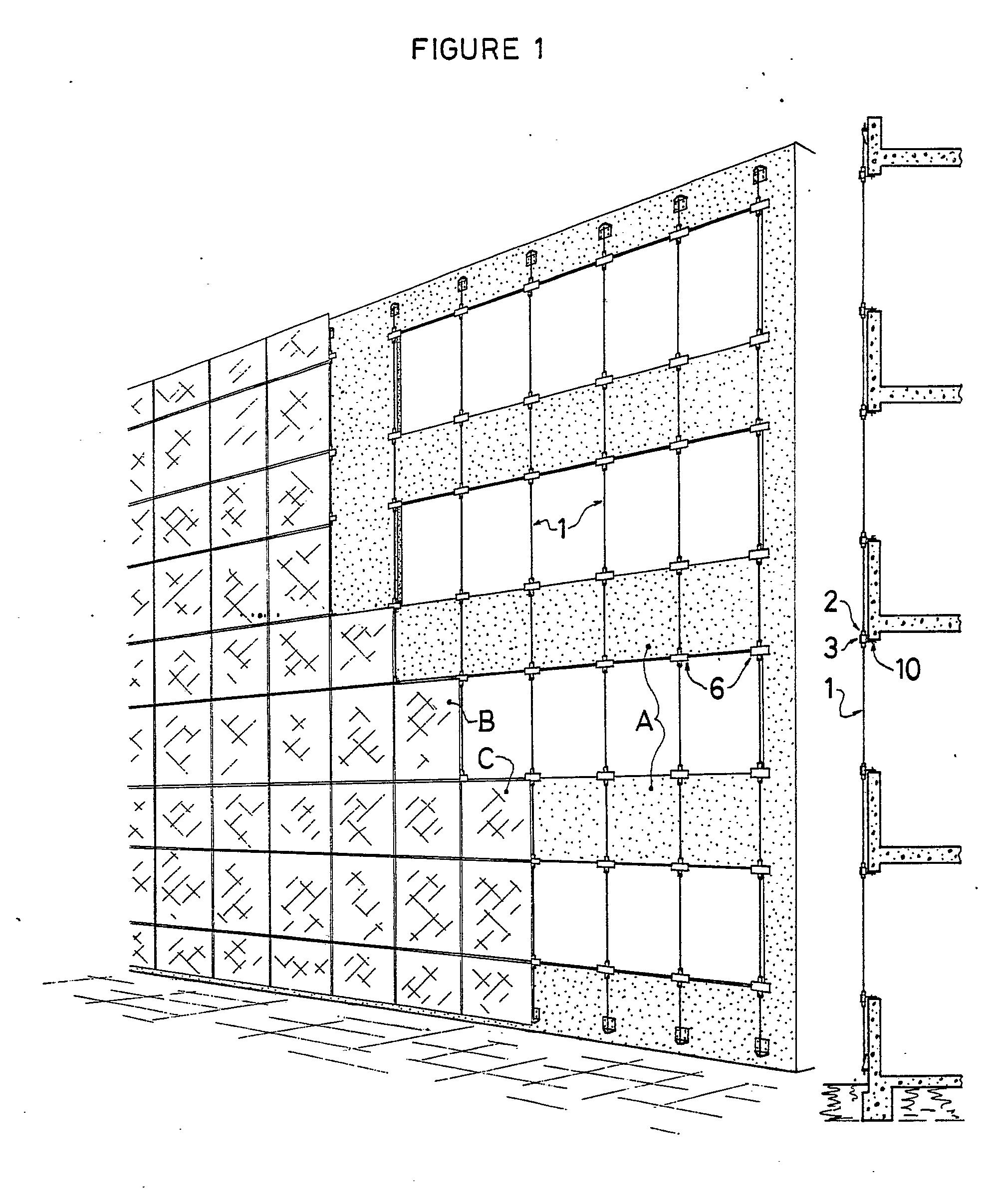 patent ep0387127a2 structure de fa ade de type mur rideau c bles ou fils tendus google patents. Black Bedroom Furniture Sets. Home Design Ideas