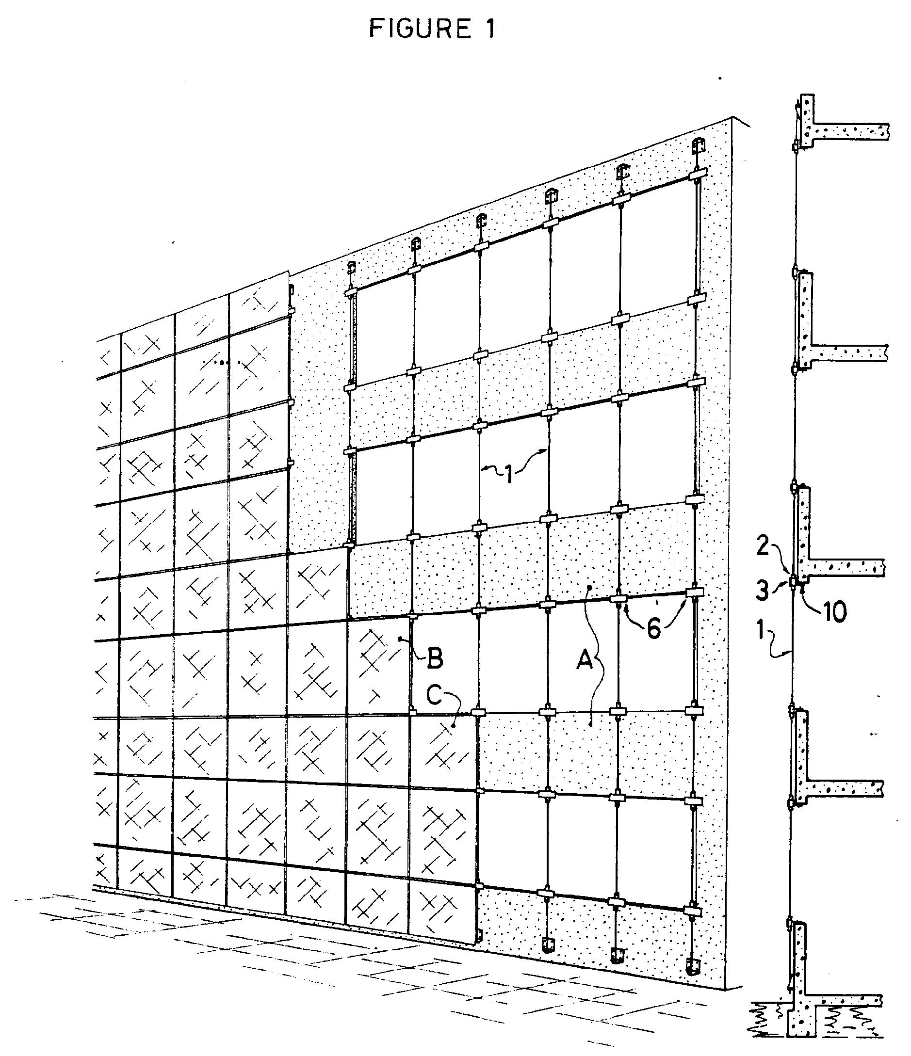 Different Type De Mur patent ep0387127b1 - structure de façade de type mur rideau à câbles