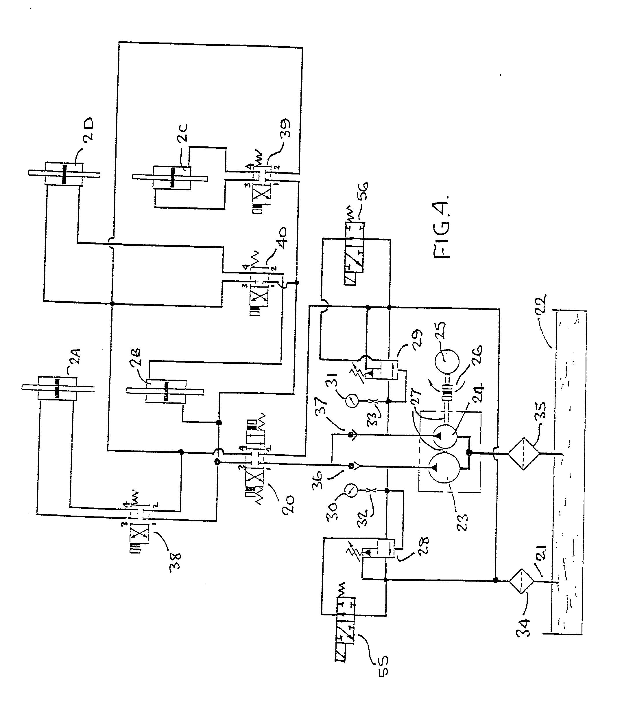 patent ep0388029a2 - multi-actuator hydraulic press