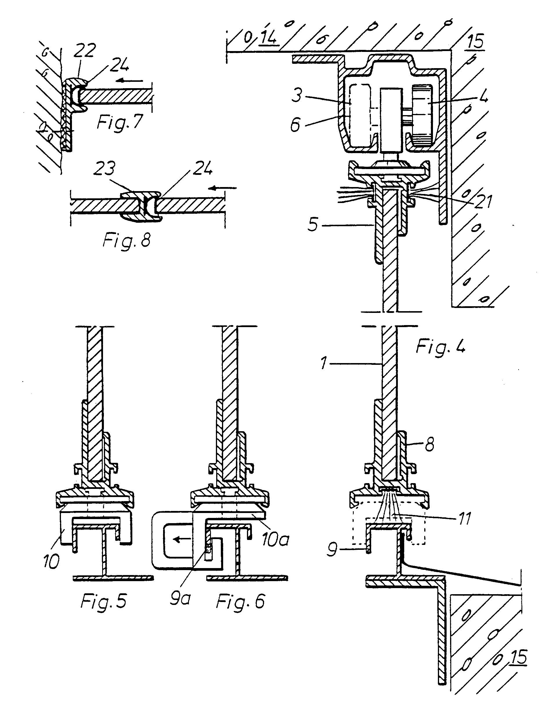 Patent ep0390831b1 pivotable glazing for a balcony for Plural of balcony