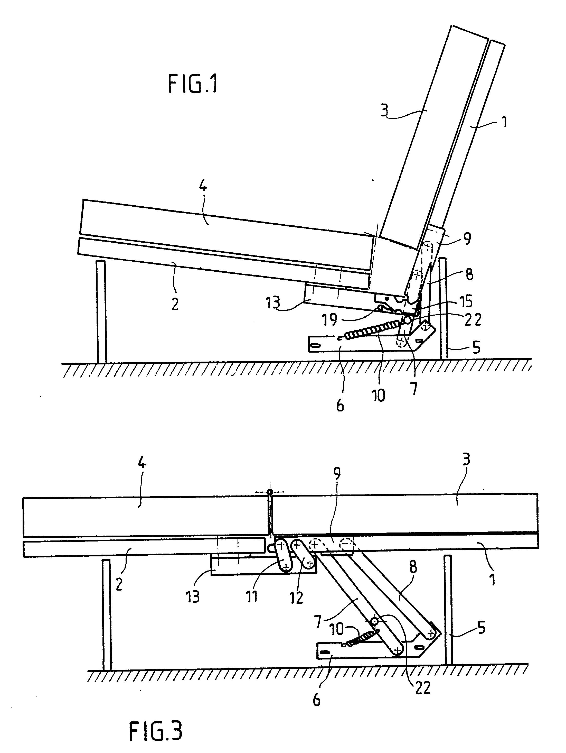 Patent ep0395531a1 m canisme d 39 articulation pour les l ments d 39 une banquette convertible - Mecanisme banquette clic clac ...