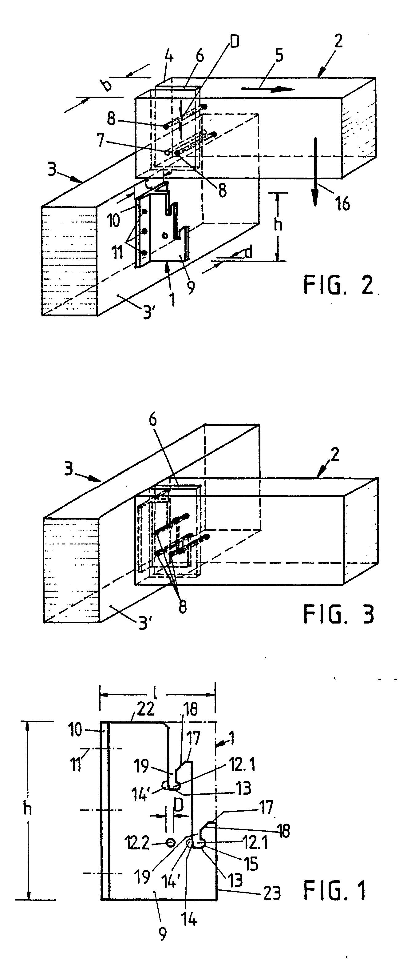 Holzskelettbau detail  Patent EP0396217A1 - Elément de liaison pour poutres (en bois ...
