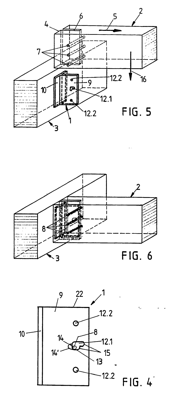 Holzskelettbau detail  Patent EP0396217A1 - Verbindungselement für (Holz-)Balken - Google ...