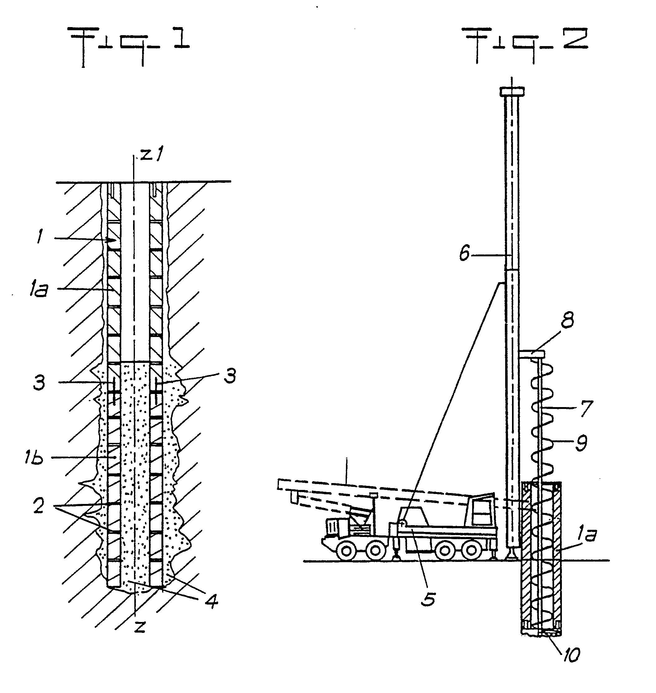 patent ep0404703a1 pieux de fondation proc d s outils et machines pour la construction. Black Bedroom Furniture Sets. Home Design Ideas