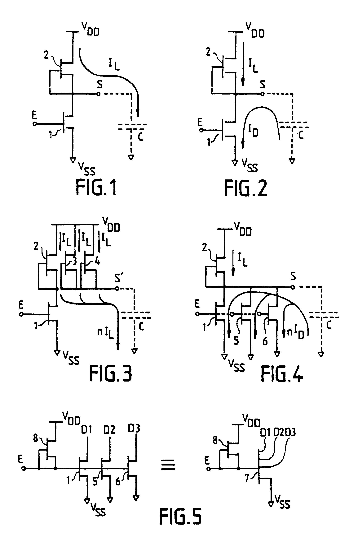 Patente ep0424222a1 circuit int gr logique temps de for Transistor porte logique