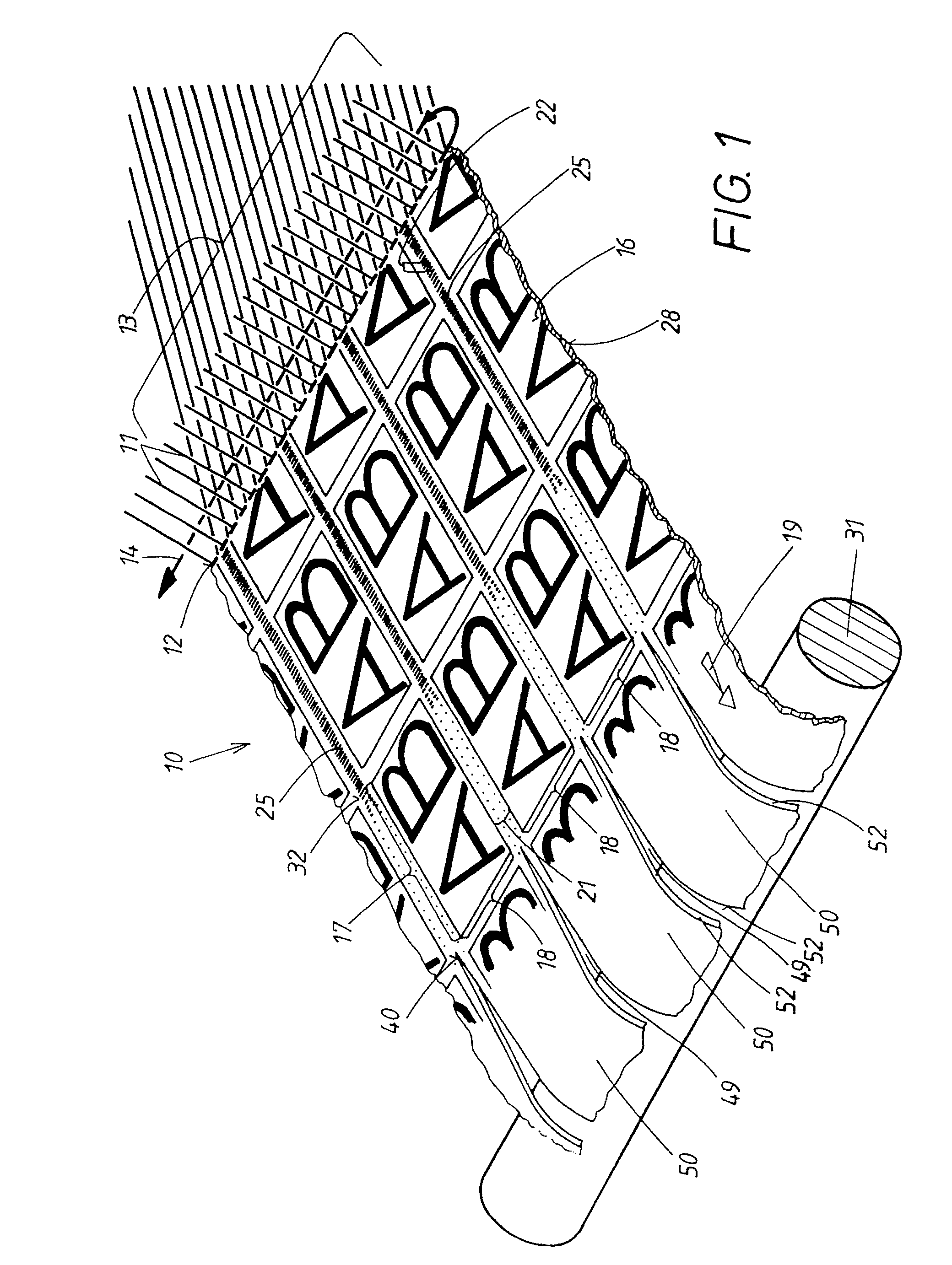 Patent EP0427933A1 - Method and device for manufacturing a textile ...