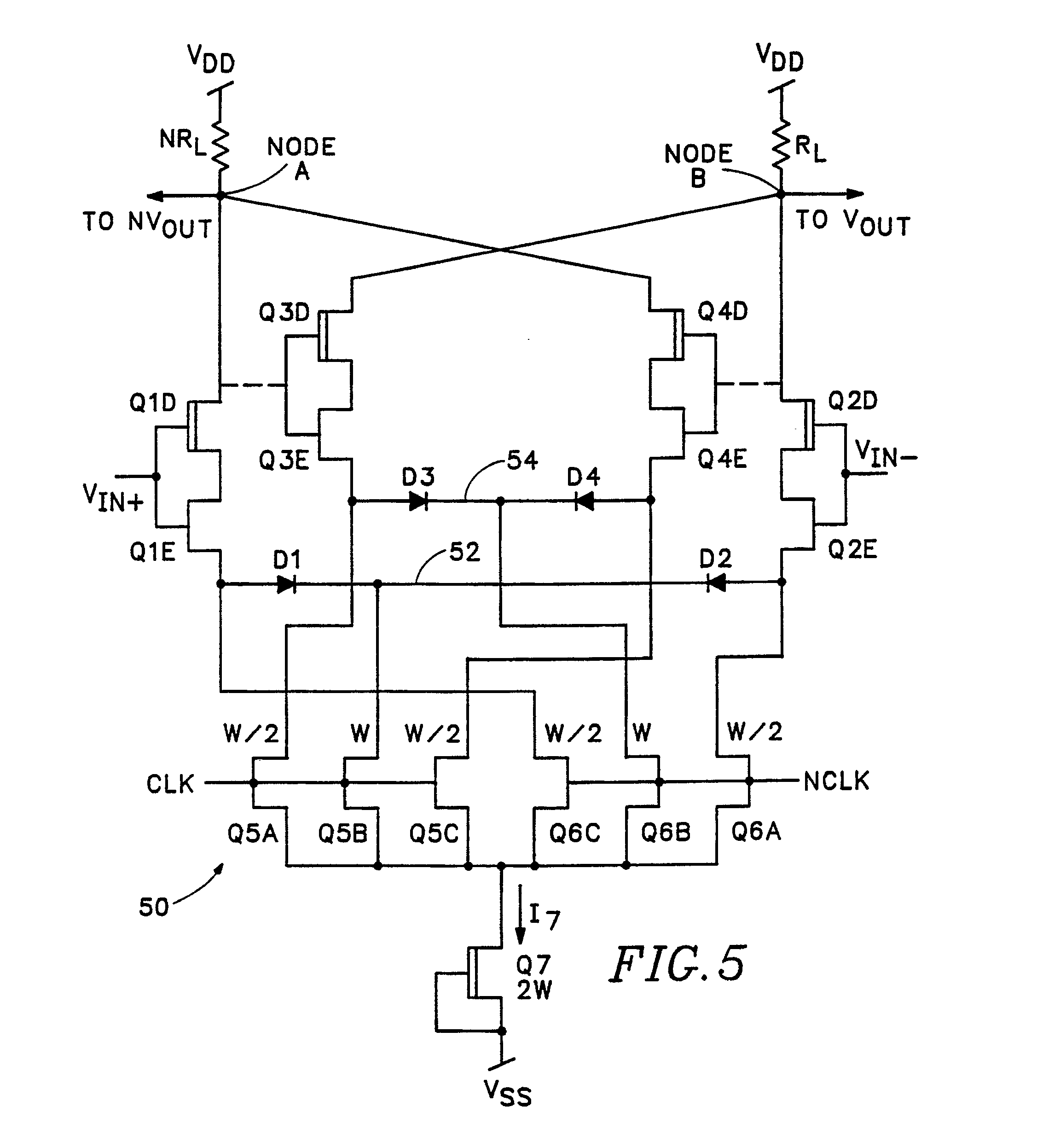 patent ep0435148a1 a low hysteresis regenerative comparator on digital comparator schematic