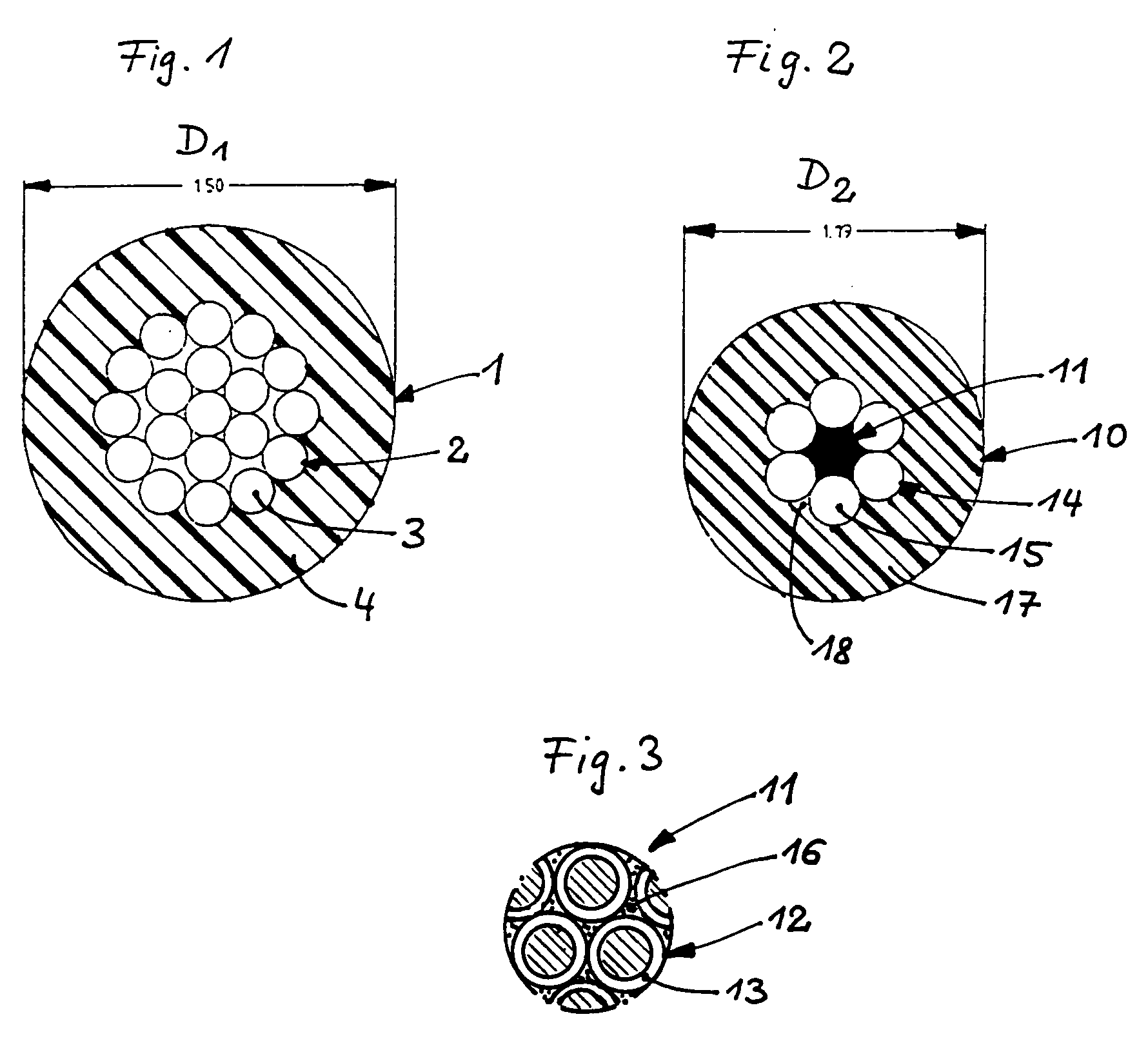 Patent EP0442990B1 - Elektrische leitung mit zugfestem element ...