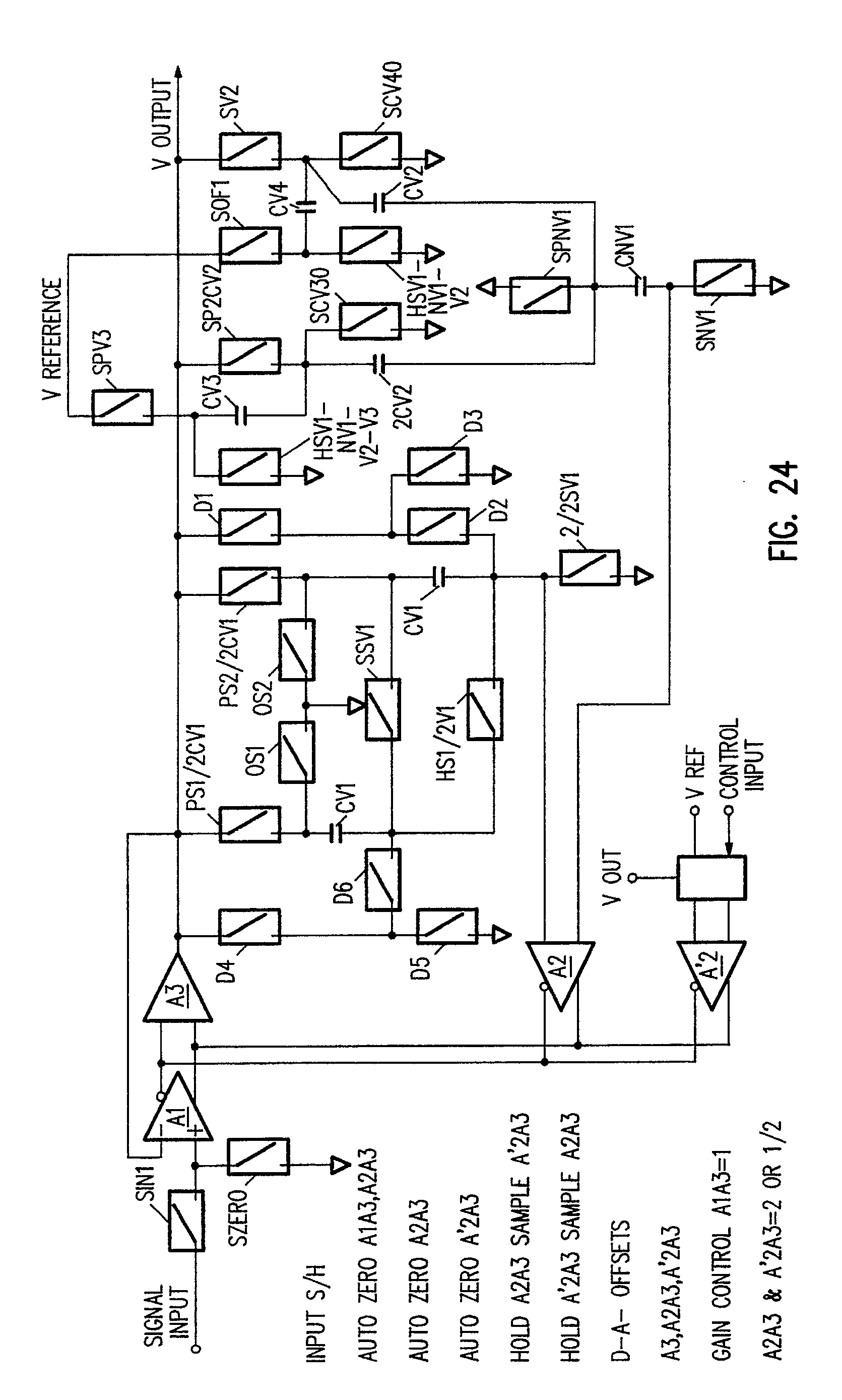 patent ep0446880a2 - current mode multiplexed sample  u0026 hold circuit