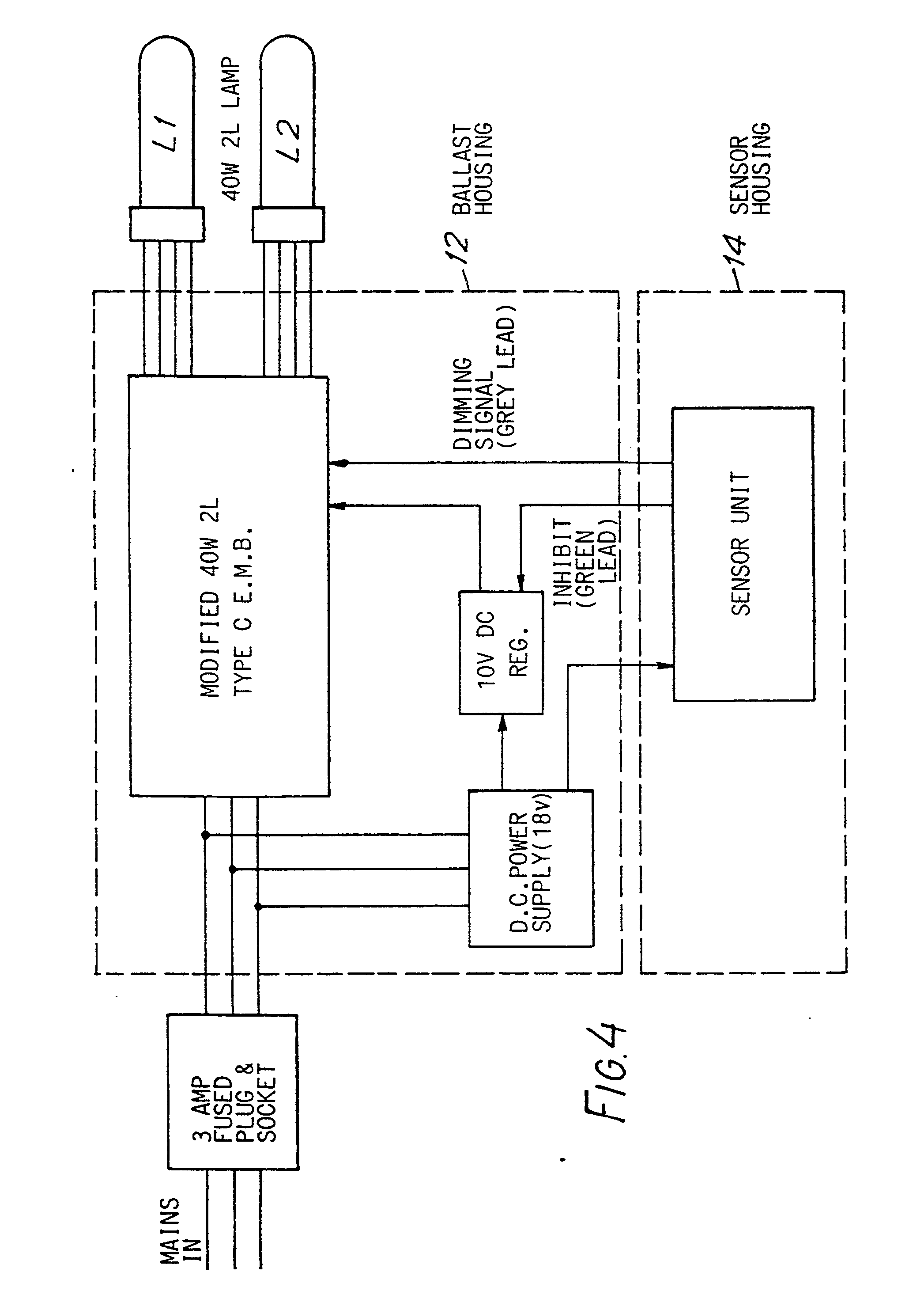 imgf0003 patent ep0447136a2 a method for automatic switching and control helvar ballast wiring diagram at soozxer.org
