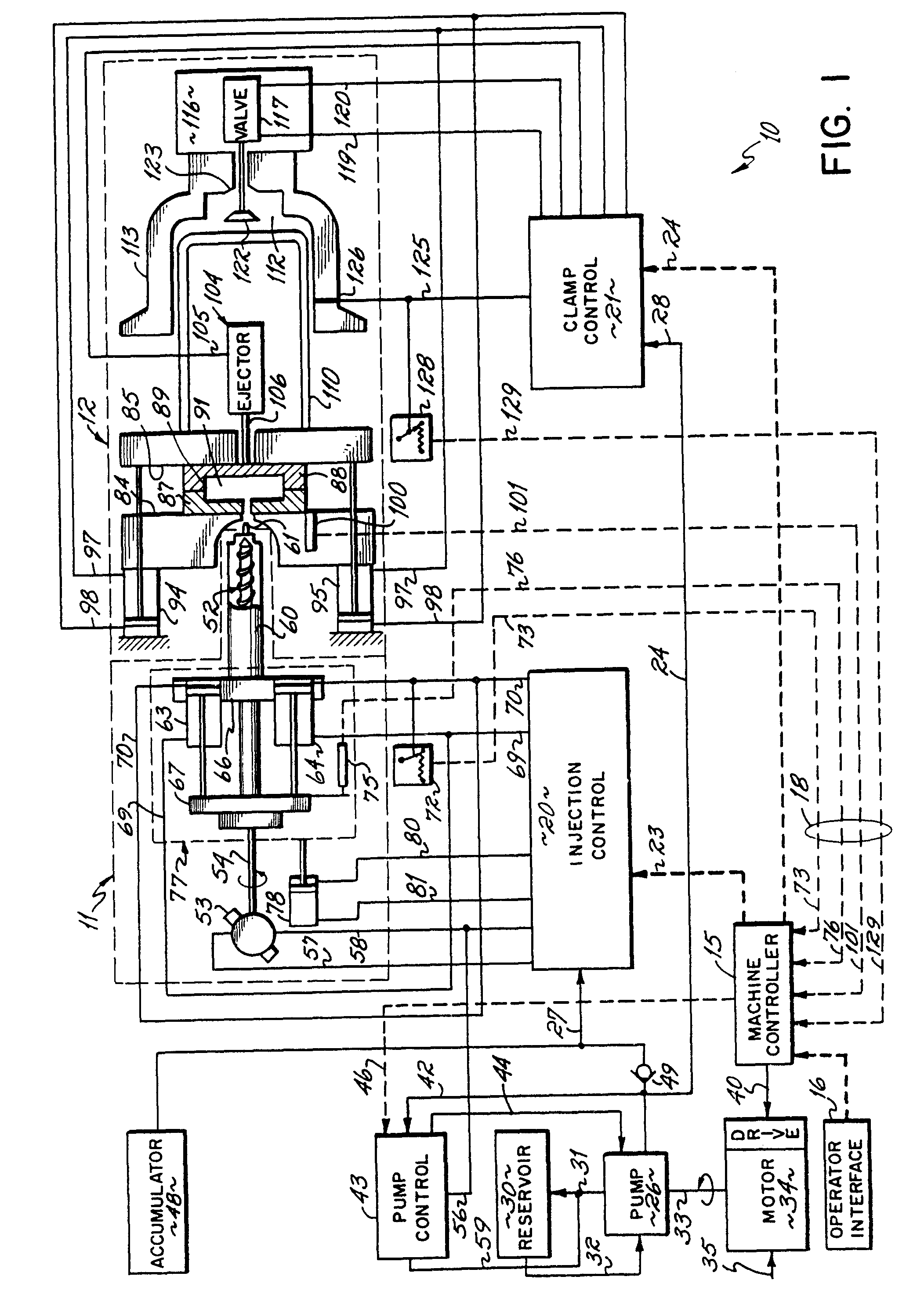 patent ep0464286a2 - injection moulding machine with electro-hydraulic control means