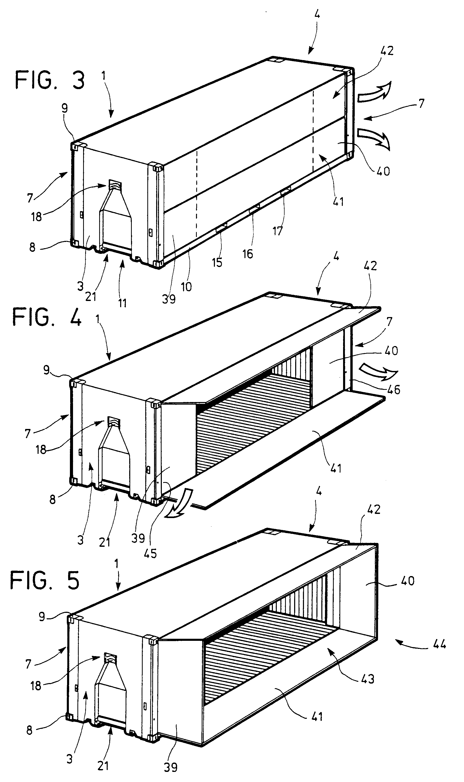 Patent ep0489673a1 habitable container with extensible for Extension container habitable