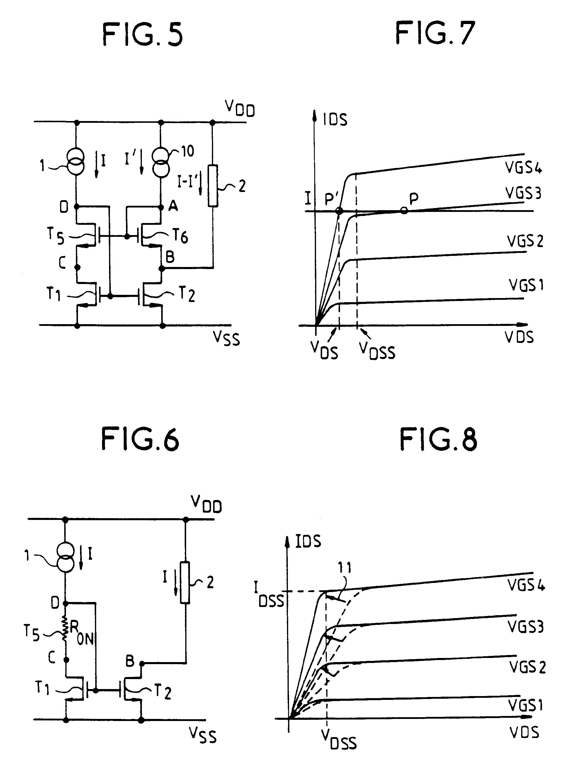 Patent ep0520858b1 miroir de courant fonctionnant sous for Miroir de courant mos
