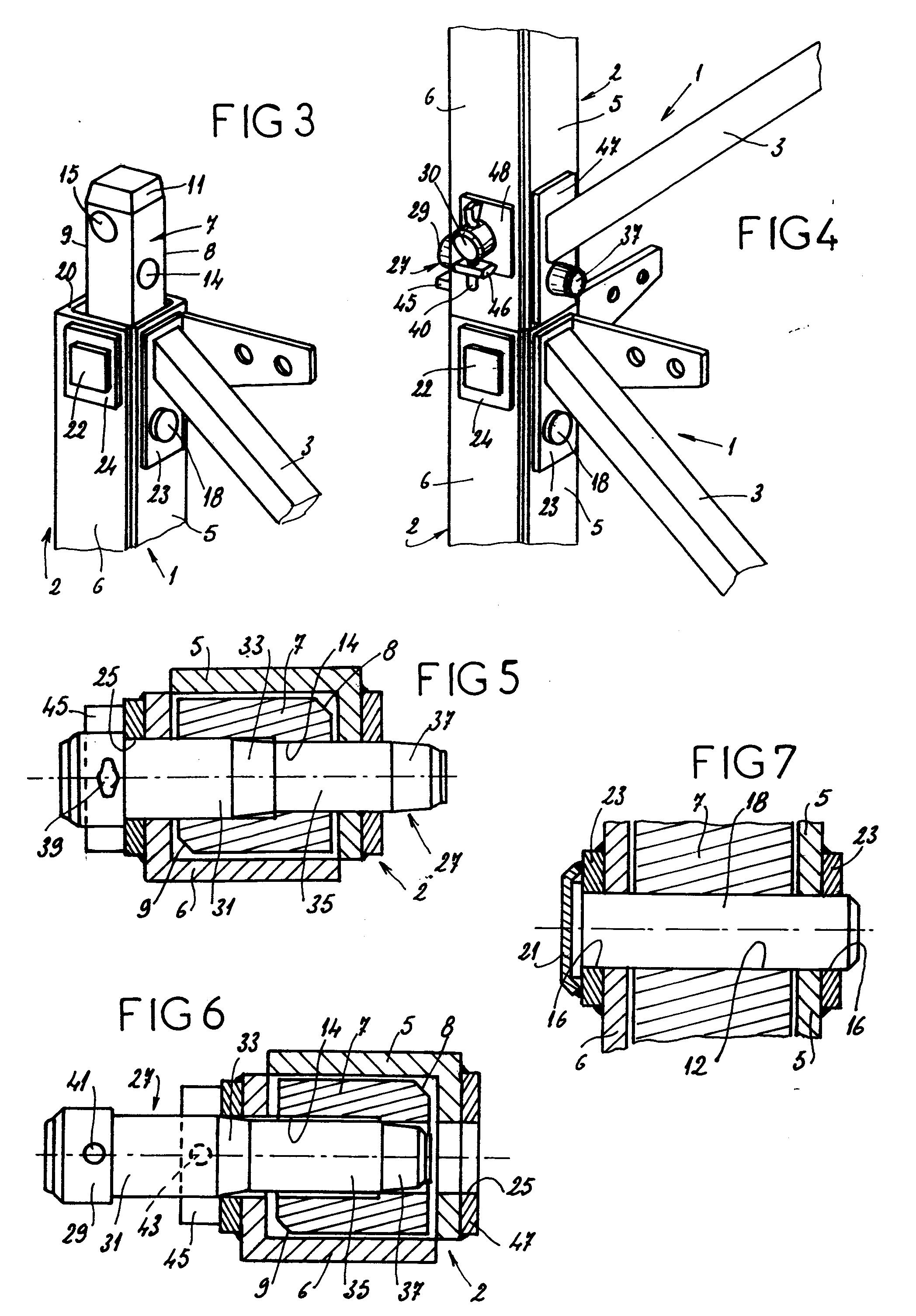 patent ep0530114a1 dispositif d 39 assemblage d montable pour l ments de charpente m tallique. Black Bedroom Furniture Sets. Home Design Ideas