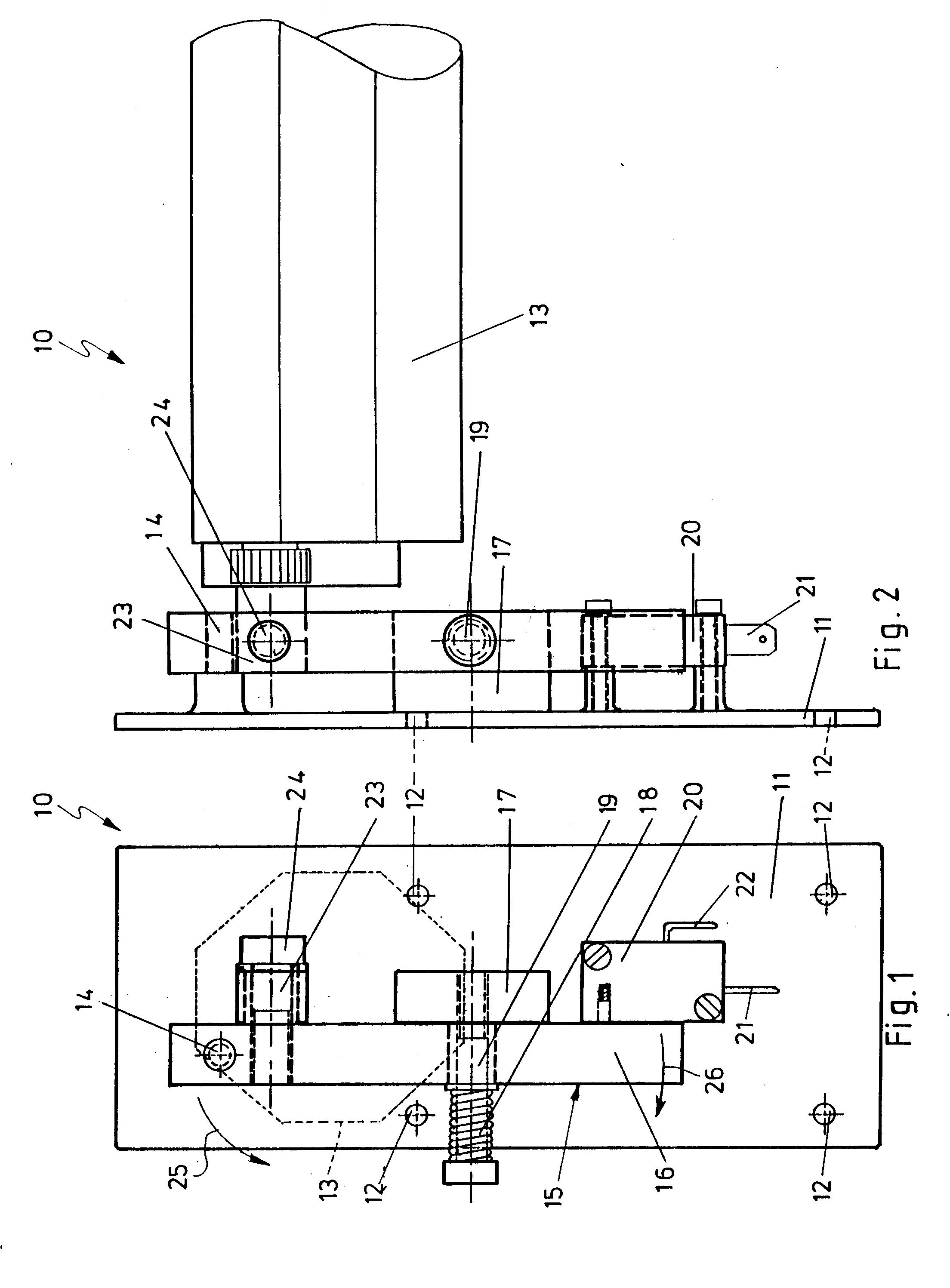 patent ep0534894a1 vorrichtung zur antriebsabschaltung des motors elektrisch betriebener. Black Bedroom Furniture Sets. Home Design Ideas