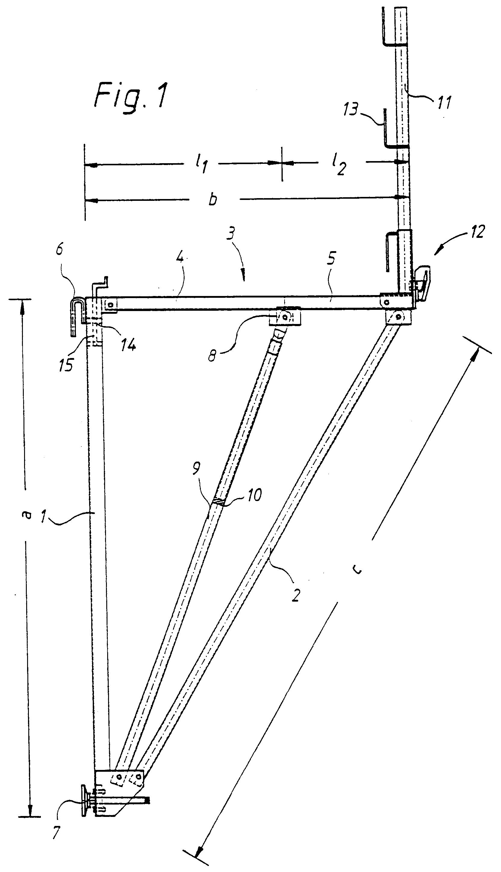 Patent ep0538612a1 ger stkonsole f r ein bauger st oder for Hohe rechtwinkliges dreieck