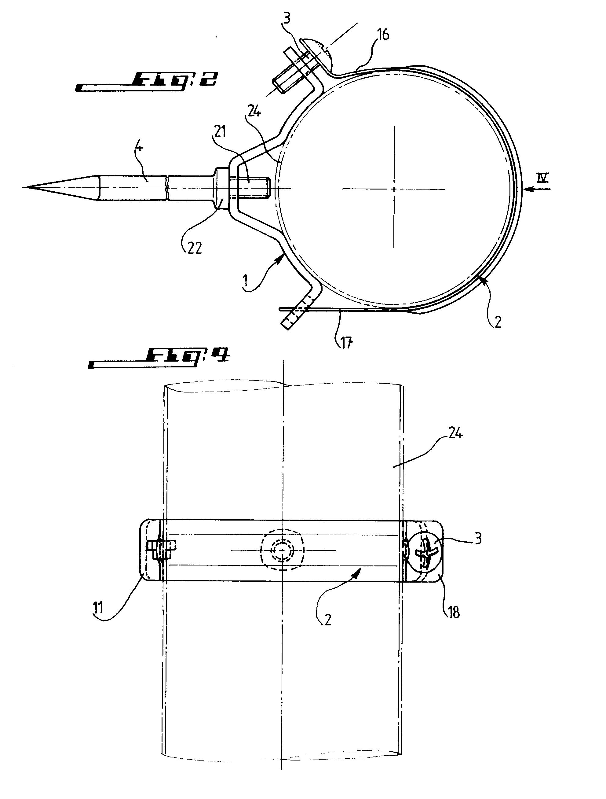 patent ep0539284a1 collier de fixation de tuyau de. Black Bedroom Furniture Sets. Home Design Ideas