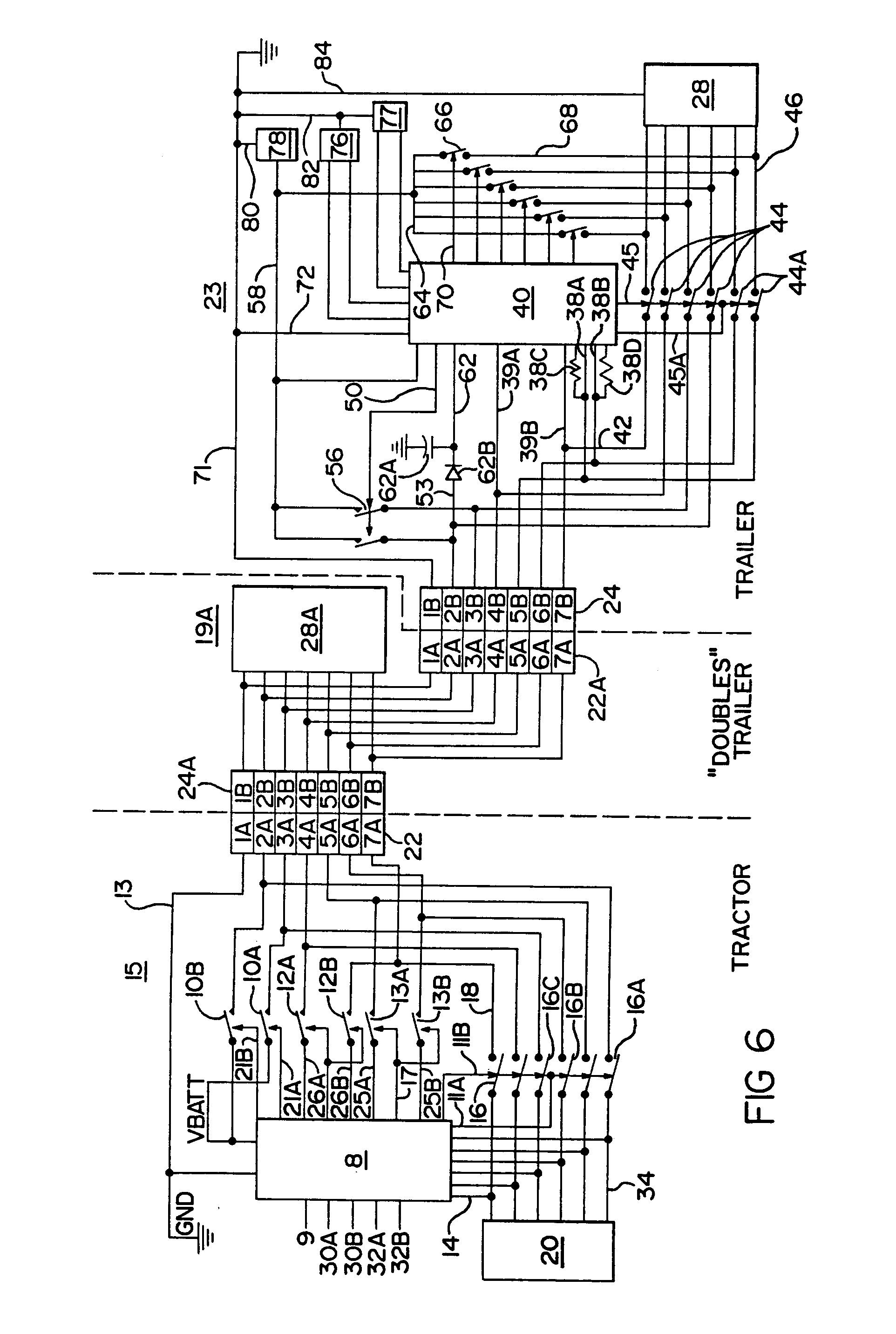 imgf0004 patent ep0546370a1 truck tractor and trailer electrical bendix trailer abs wiring diagram at bakdesigns.co