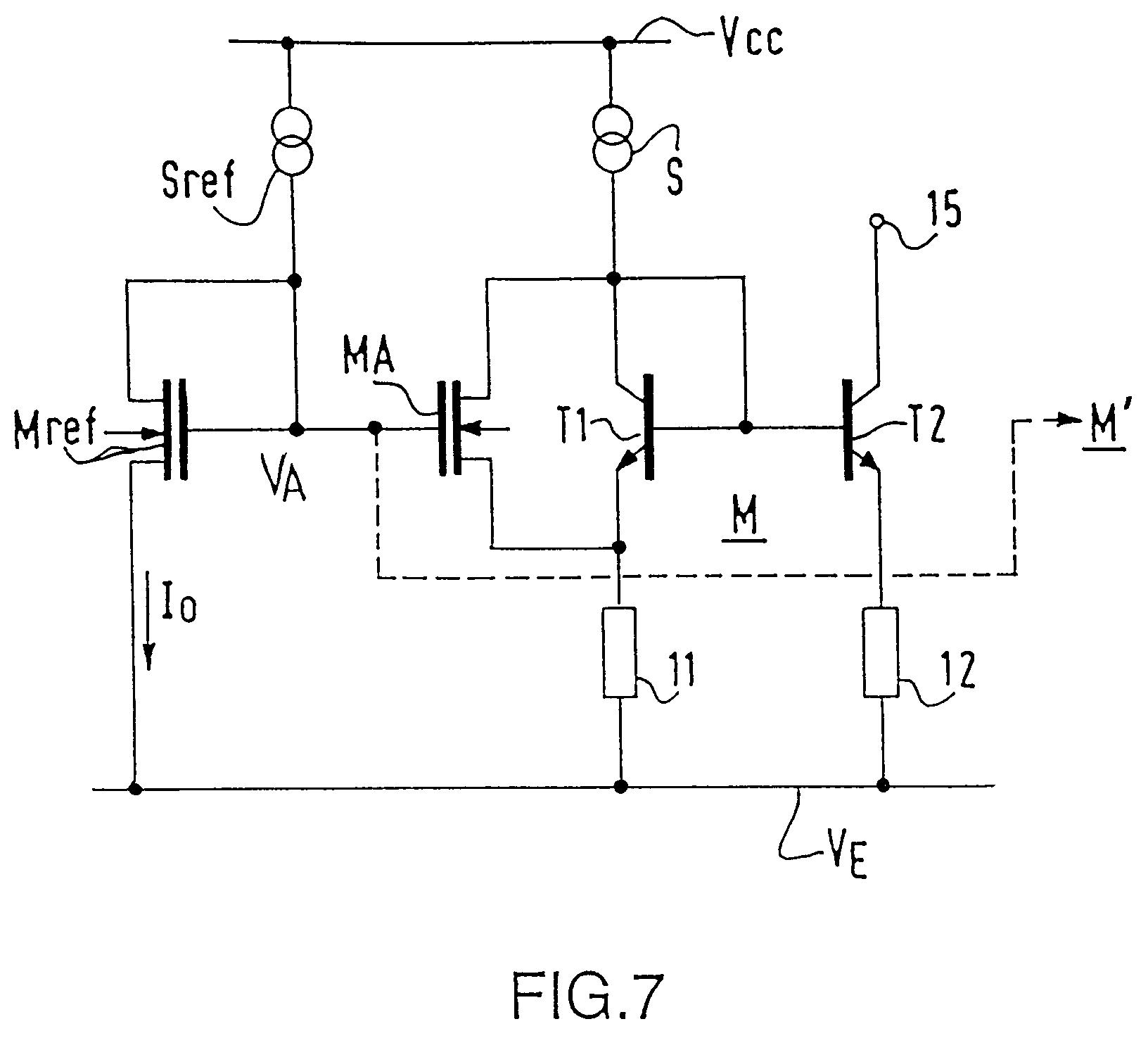 Patent ep0561456a1 synth tiseur de fr quence utilisant for Miroir de courant mos