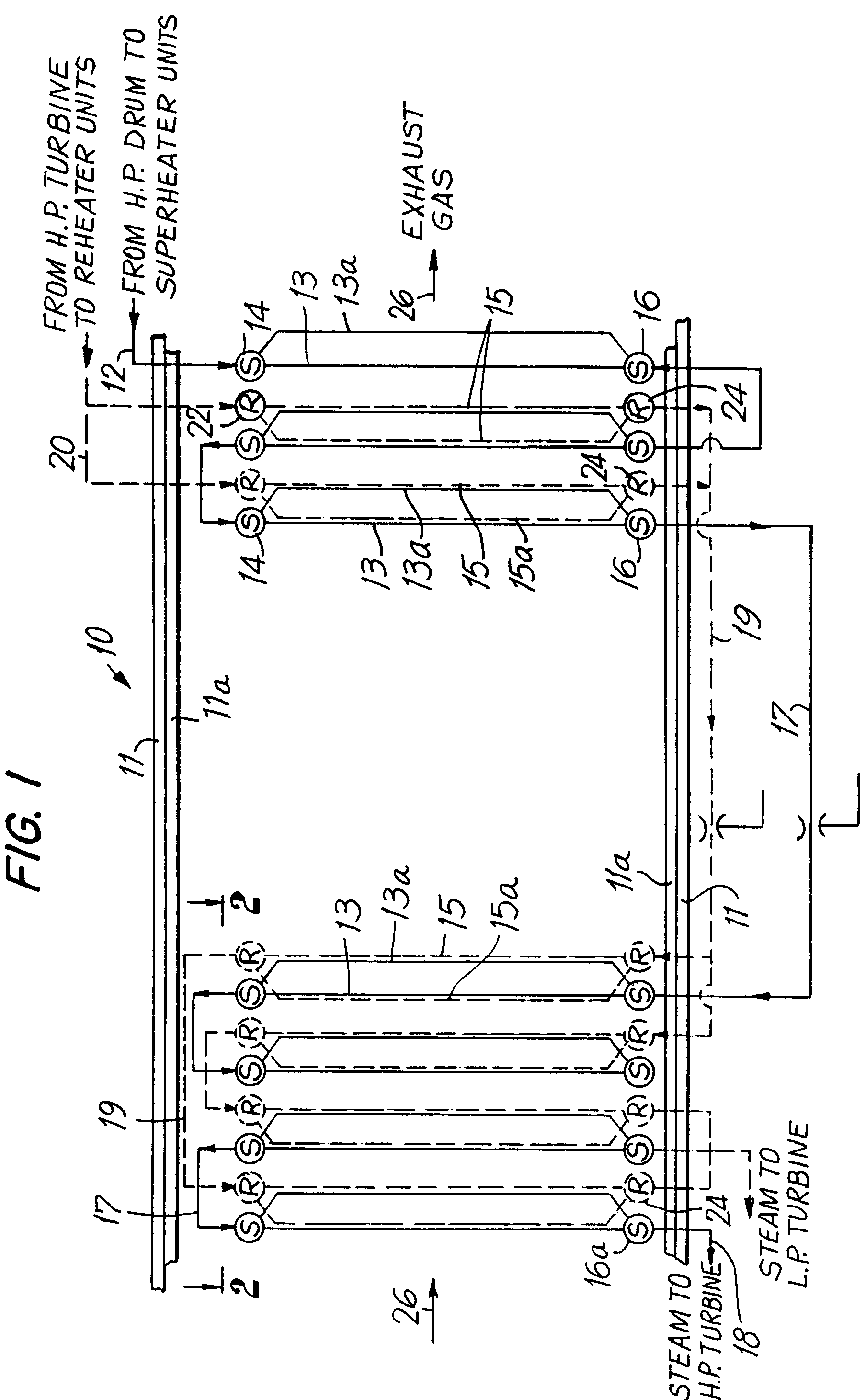 Patent EP A1 Superheater and reheater tube arrangement for