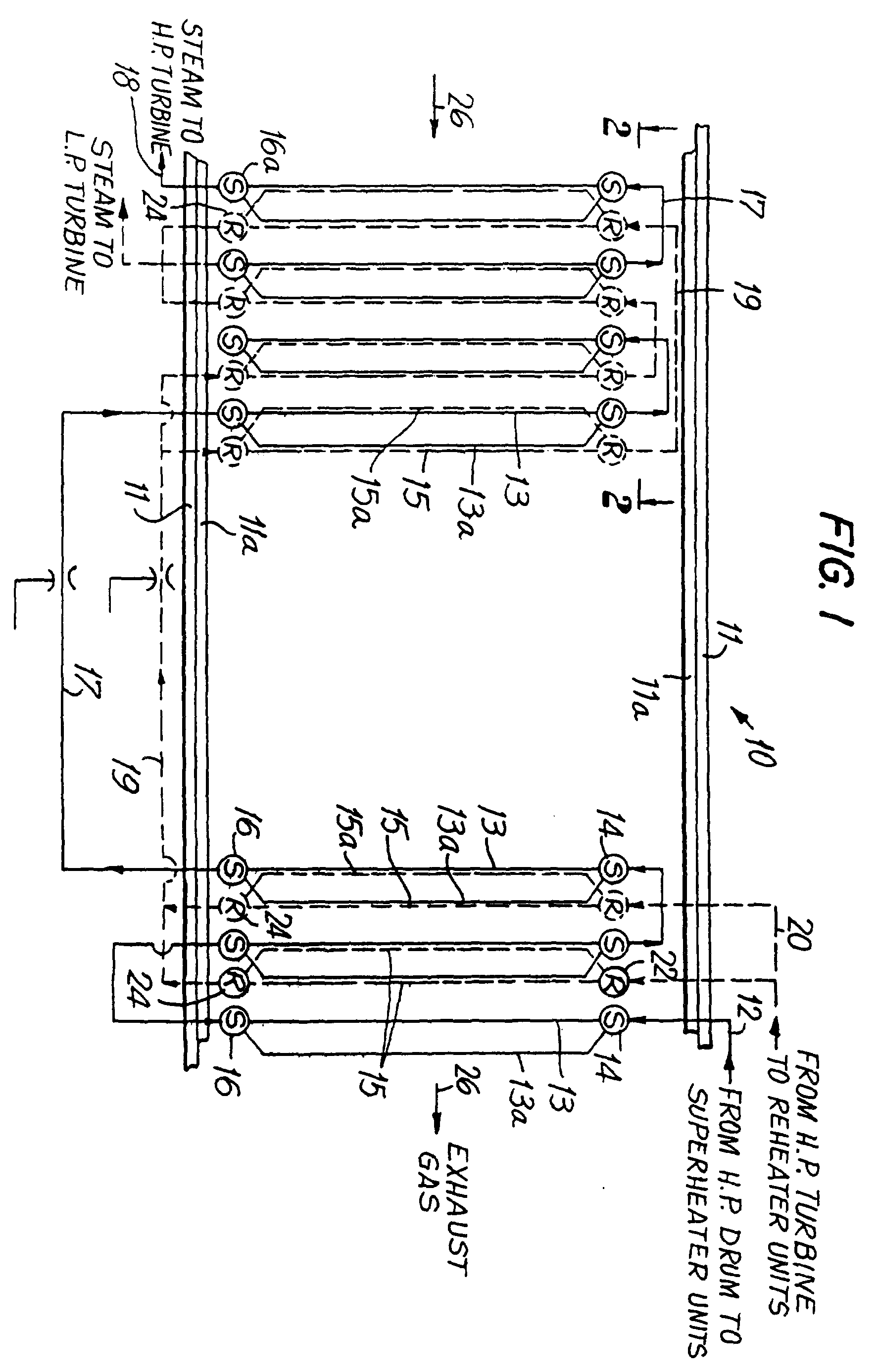 Patent EP B1 Superheater and reheater tube arrangement for