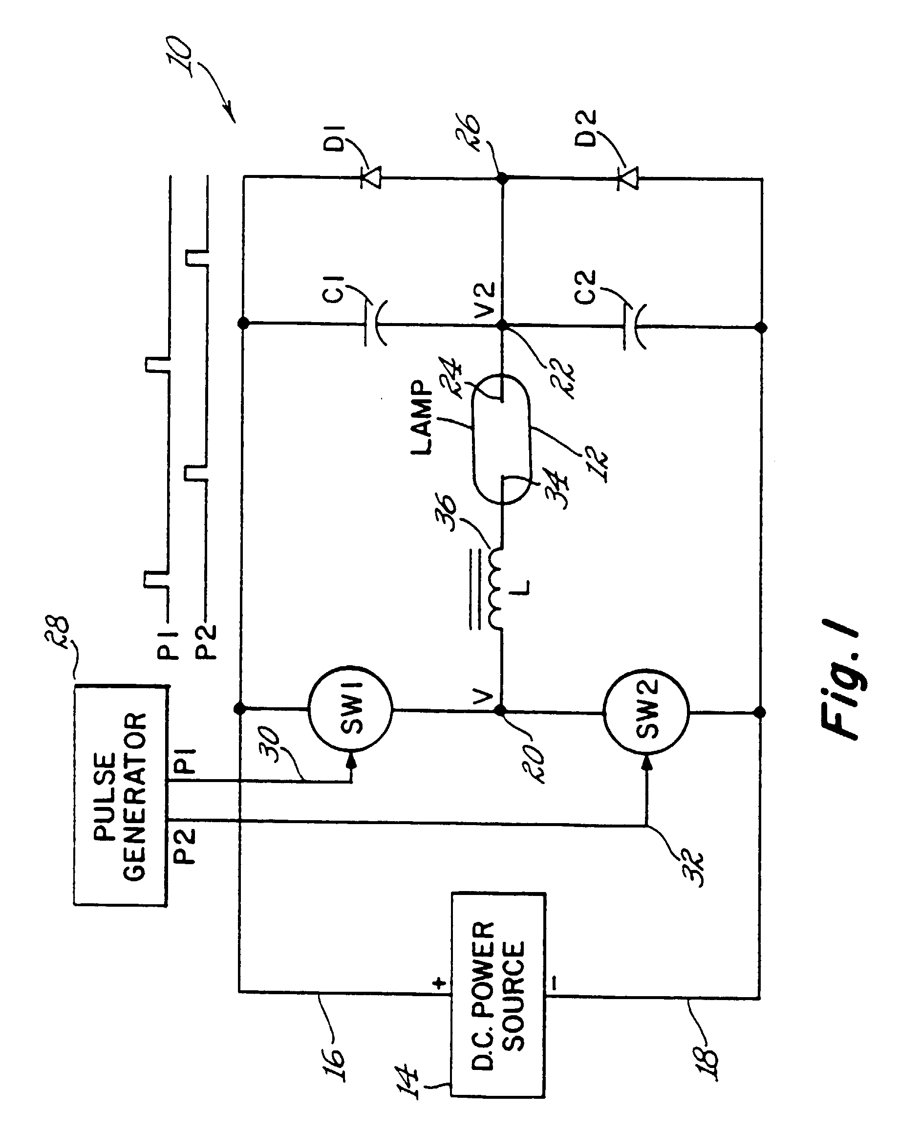 Wiring Diagram Of Sodium Vapour Lamp : Patent ep b circuit and method for operating high