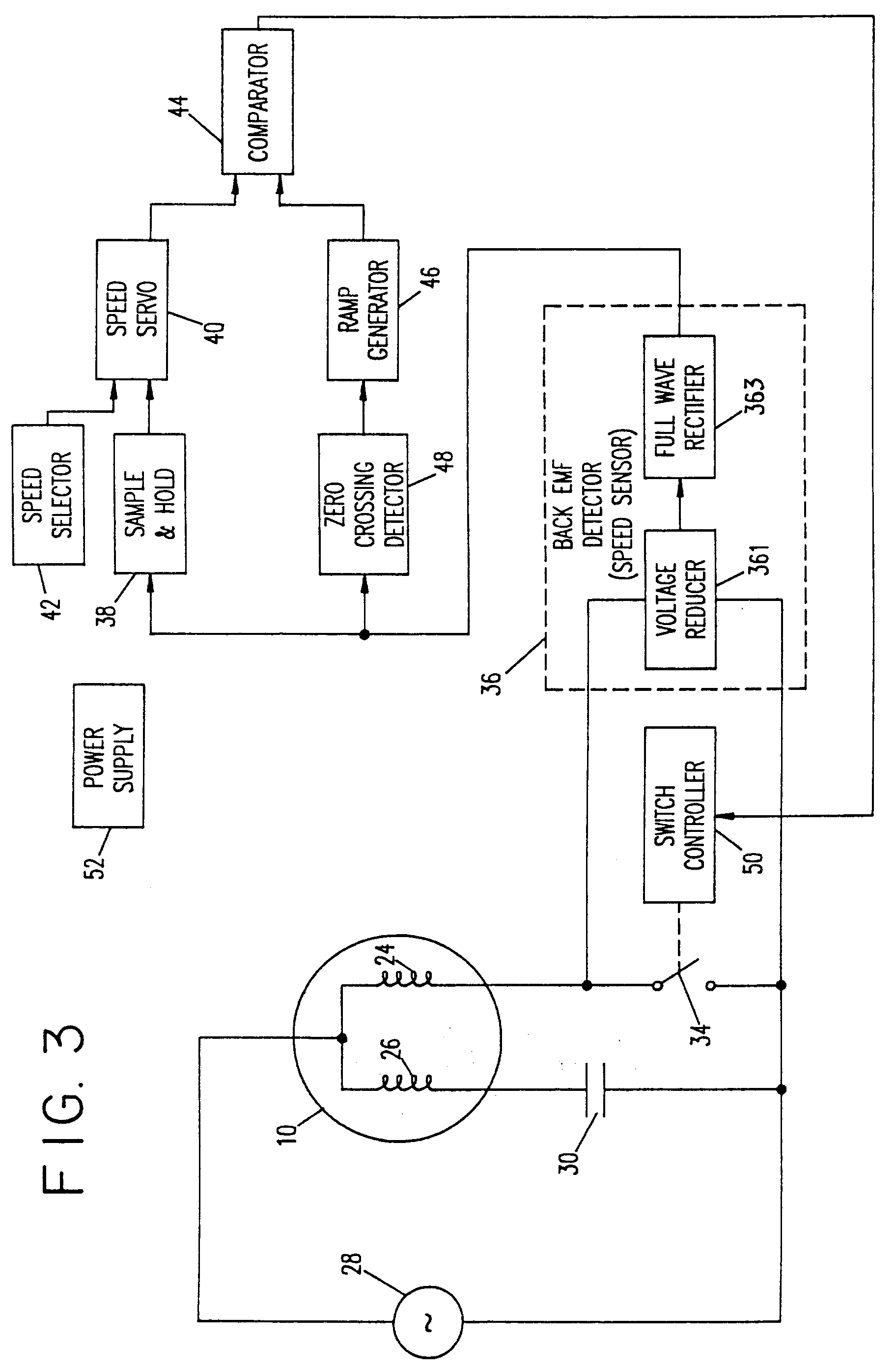 Patent Ep0605788a2 Single Phase Ac Motor Speed Control