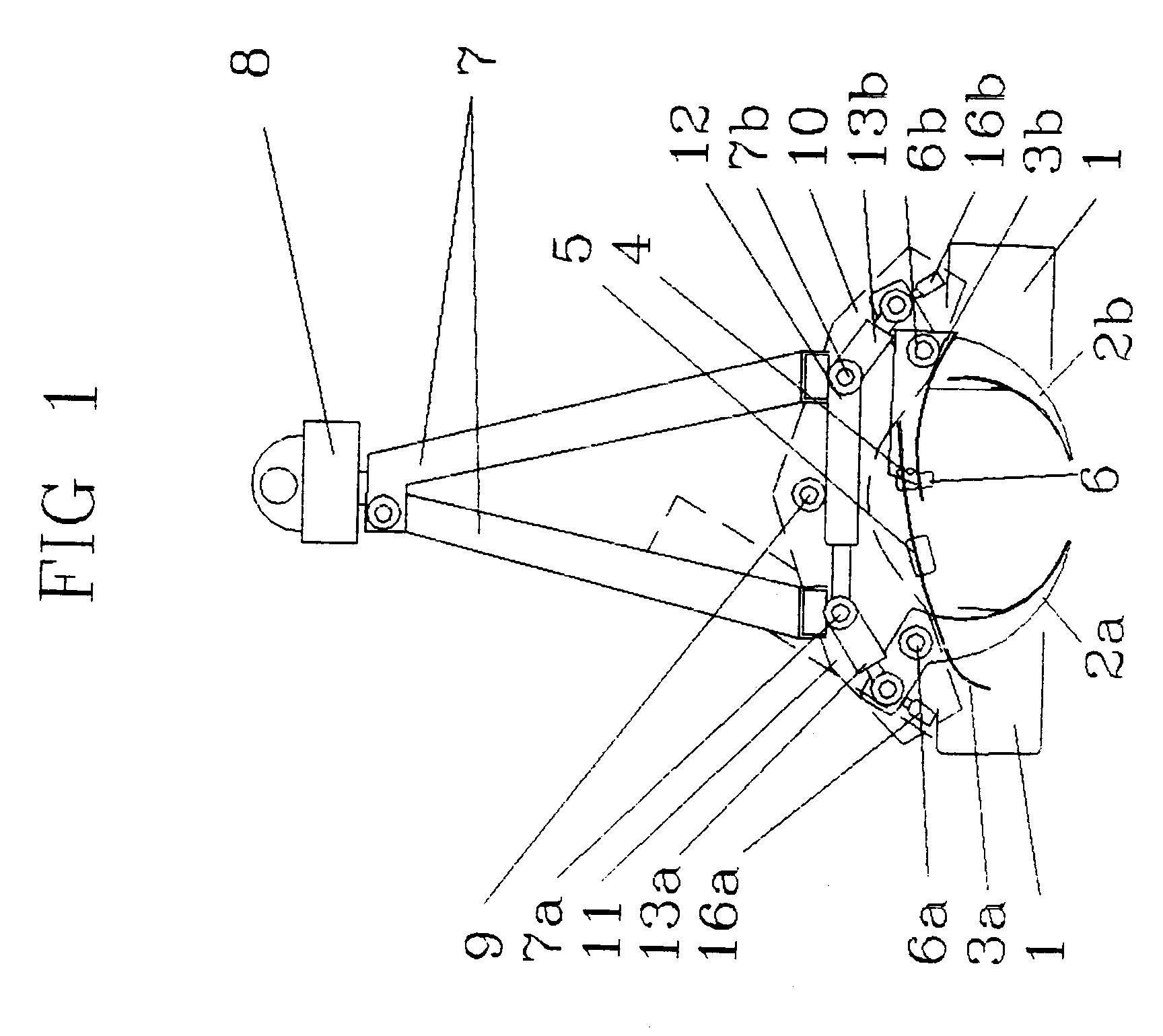 patent ep0606230b1 grappin d 39 abattage pour machine a arracher les arbres multi fonction. Black Bedroom Furniture Sets. Home Design Ideas