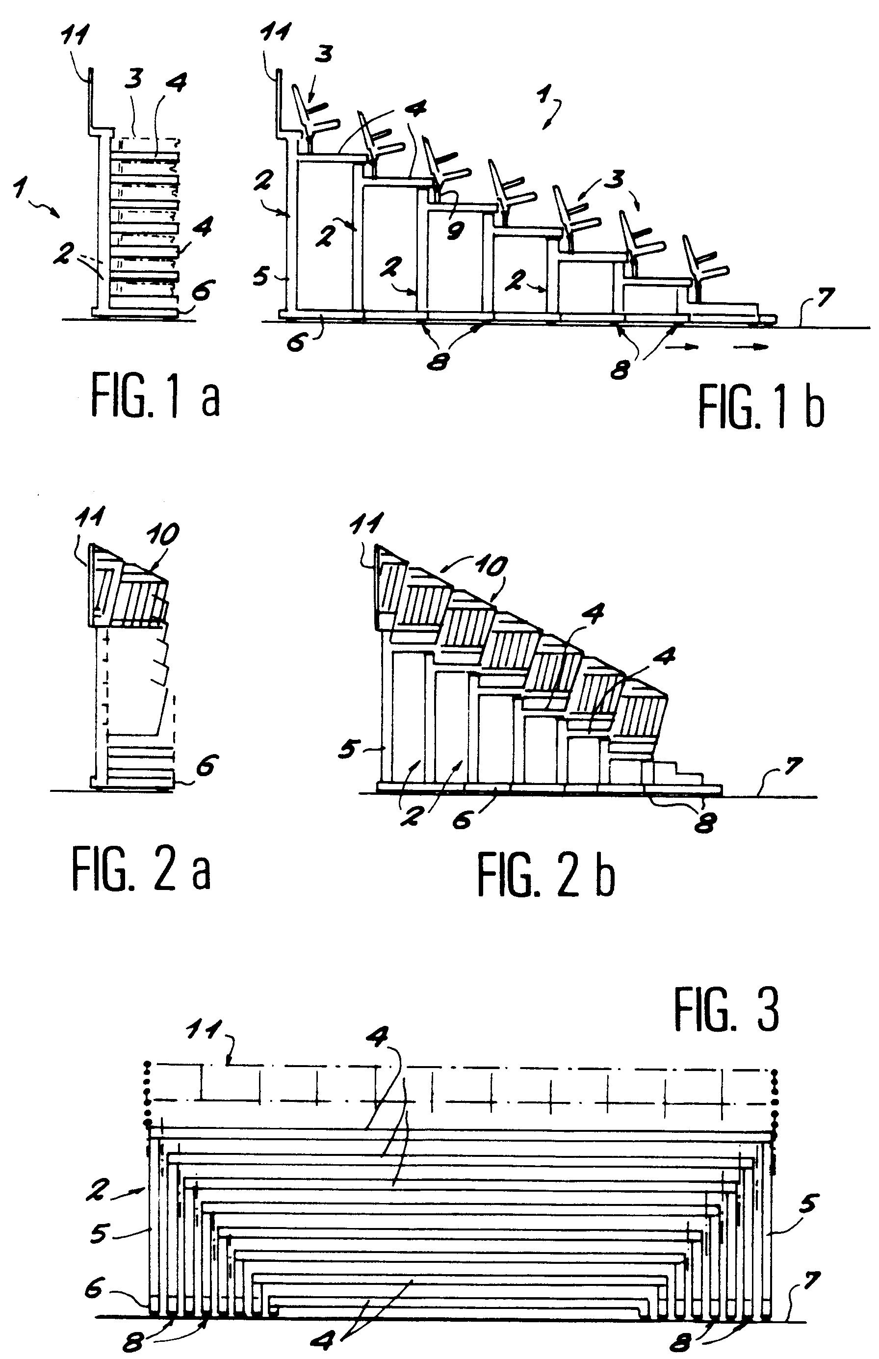 patent ep0611857a1 perfectionnements aux tribunes. Black Bedroom Furniture Sets. Home Design Ideas
