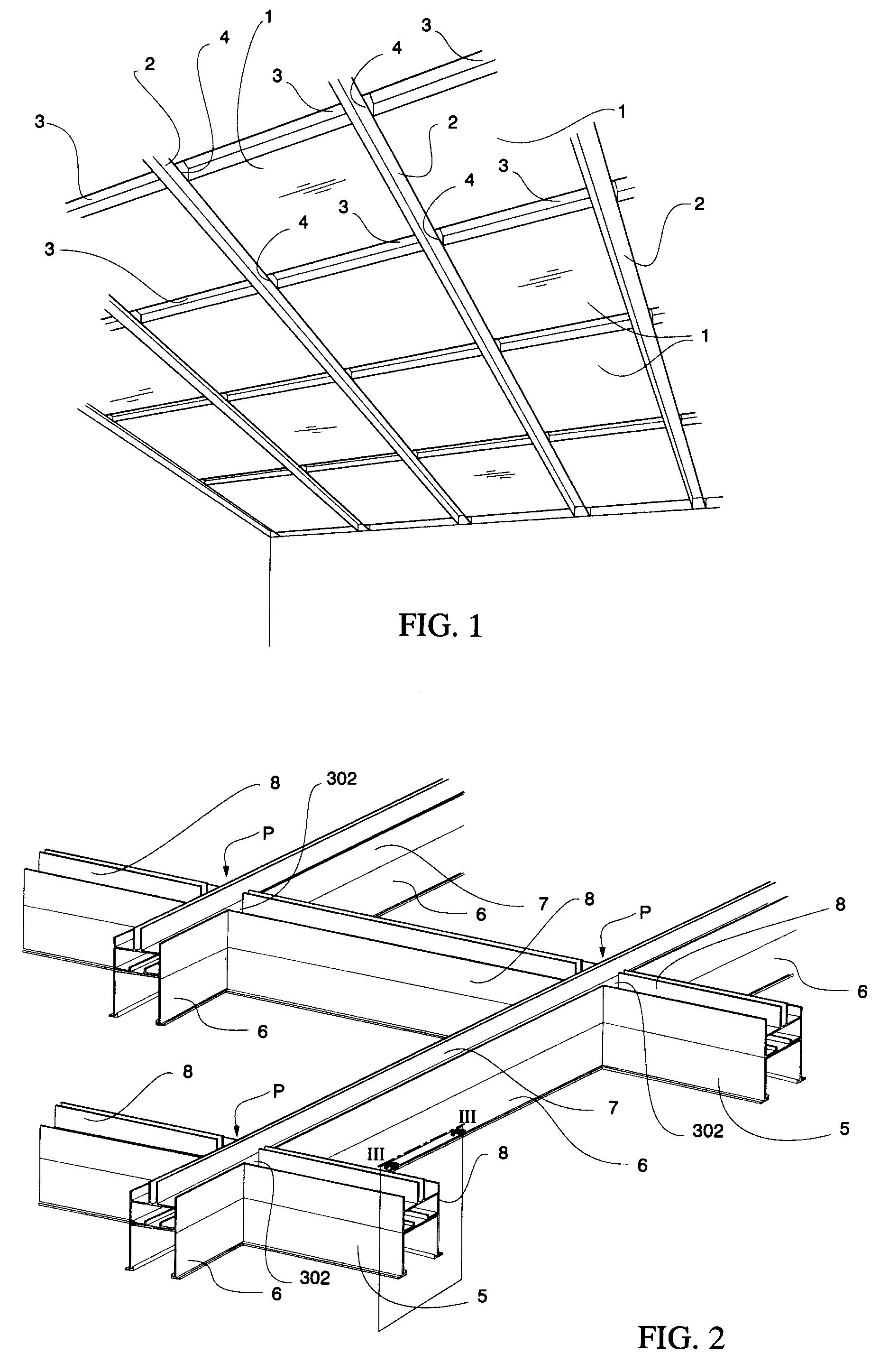 patent ep0627532a1 nouveau syst me de plafond suspensu pour salle blanche google patents. Black Bedroom Furniture Sets. Home Design Ideas
