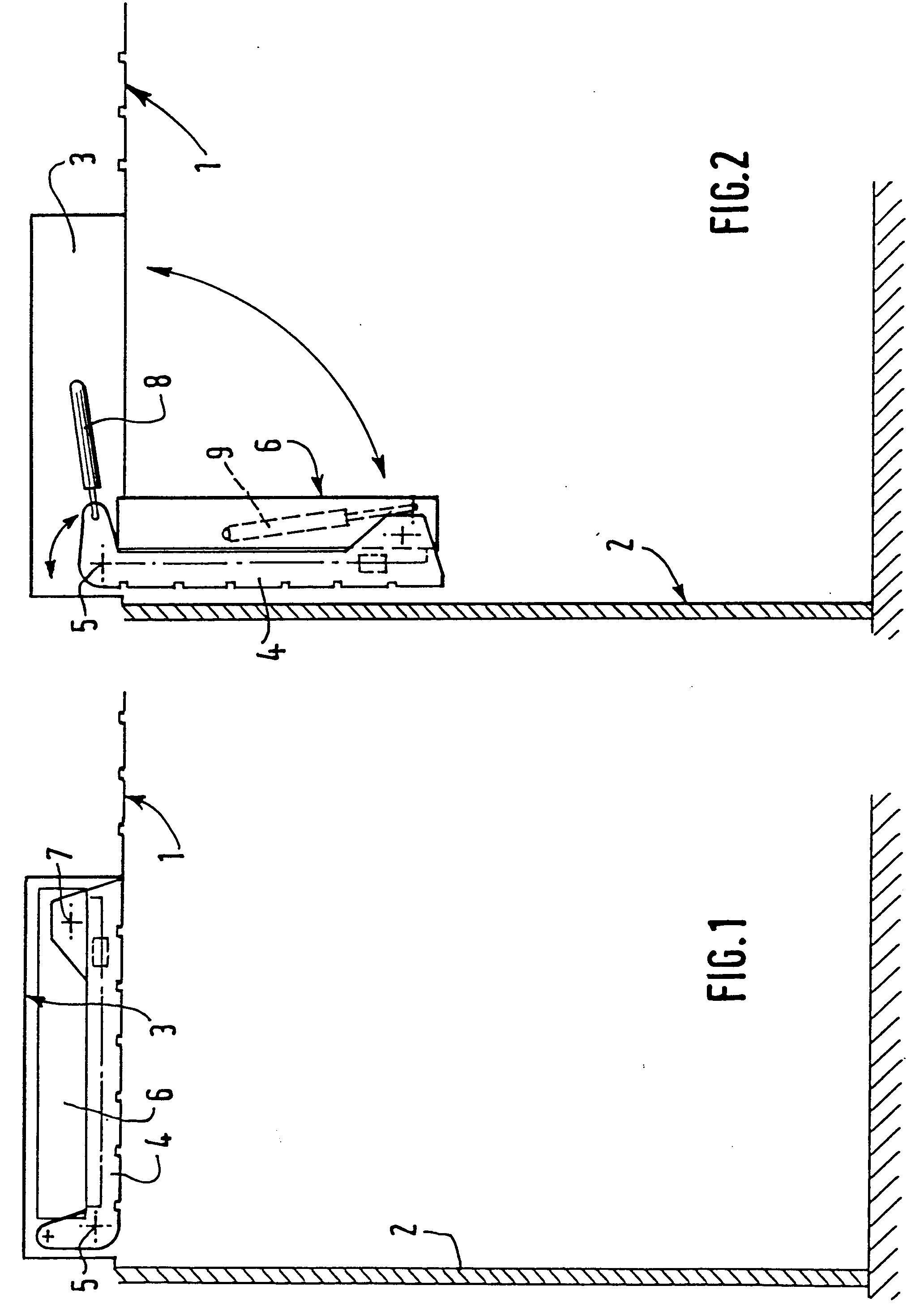 patent ep0630600a1 structure de lit ou de couchette escamotable dans un plafond google patents. Black Bedroom Furniture Sets. Home Design Ideas